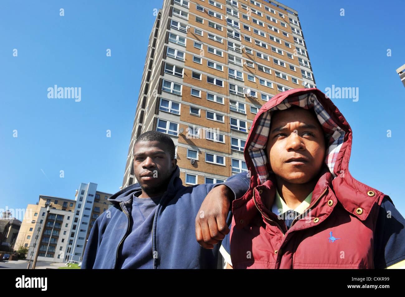 Junge Arbeitslose Jugendliche Leeds UK Stockfoto