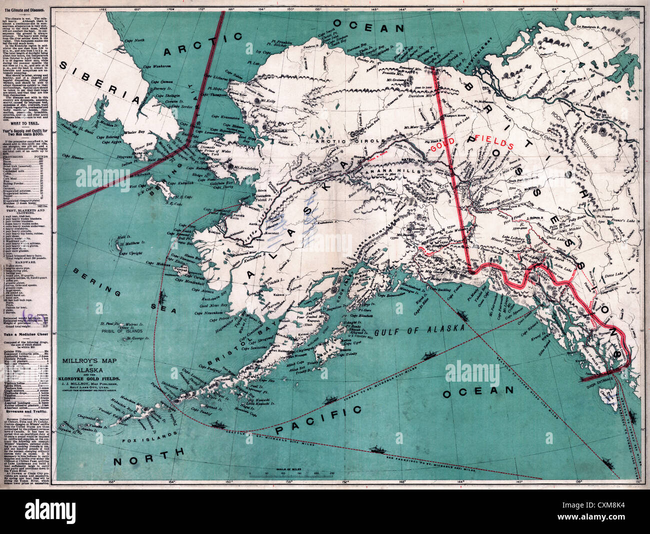Alaska Karte Stadte.Alaska Map Stockfotos Alaska Map Bilder Alamy
