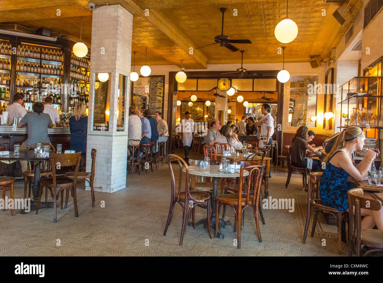 New York City Ny Usa Innen Französisches Bistro Restaurant Im