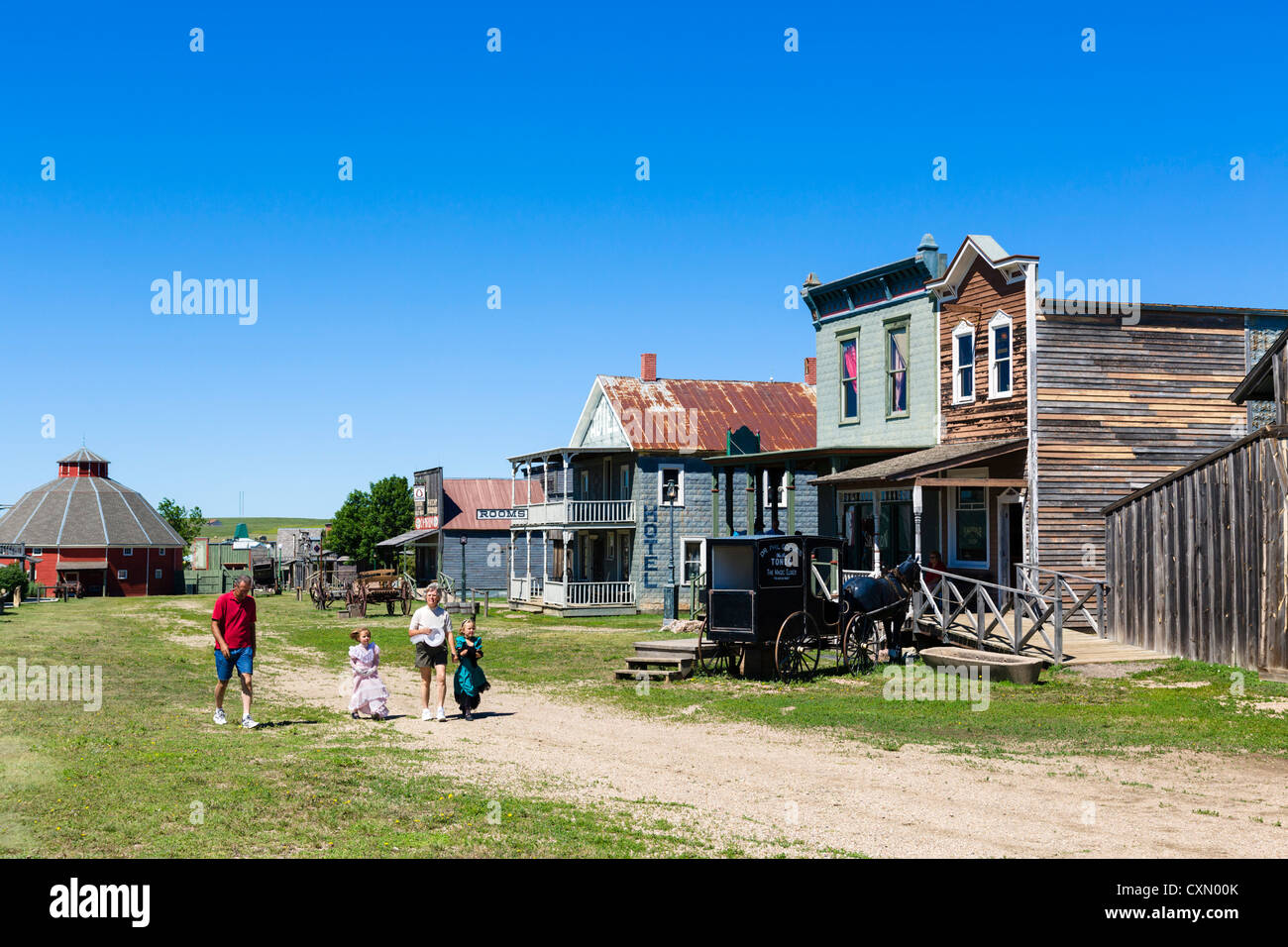 """Main Street in """"1880 Town"""" westlichen Attraktion in Murdo, South Dakota, USA Stockbild"""