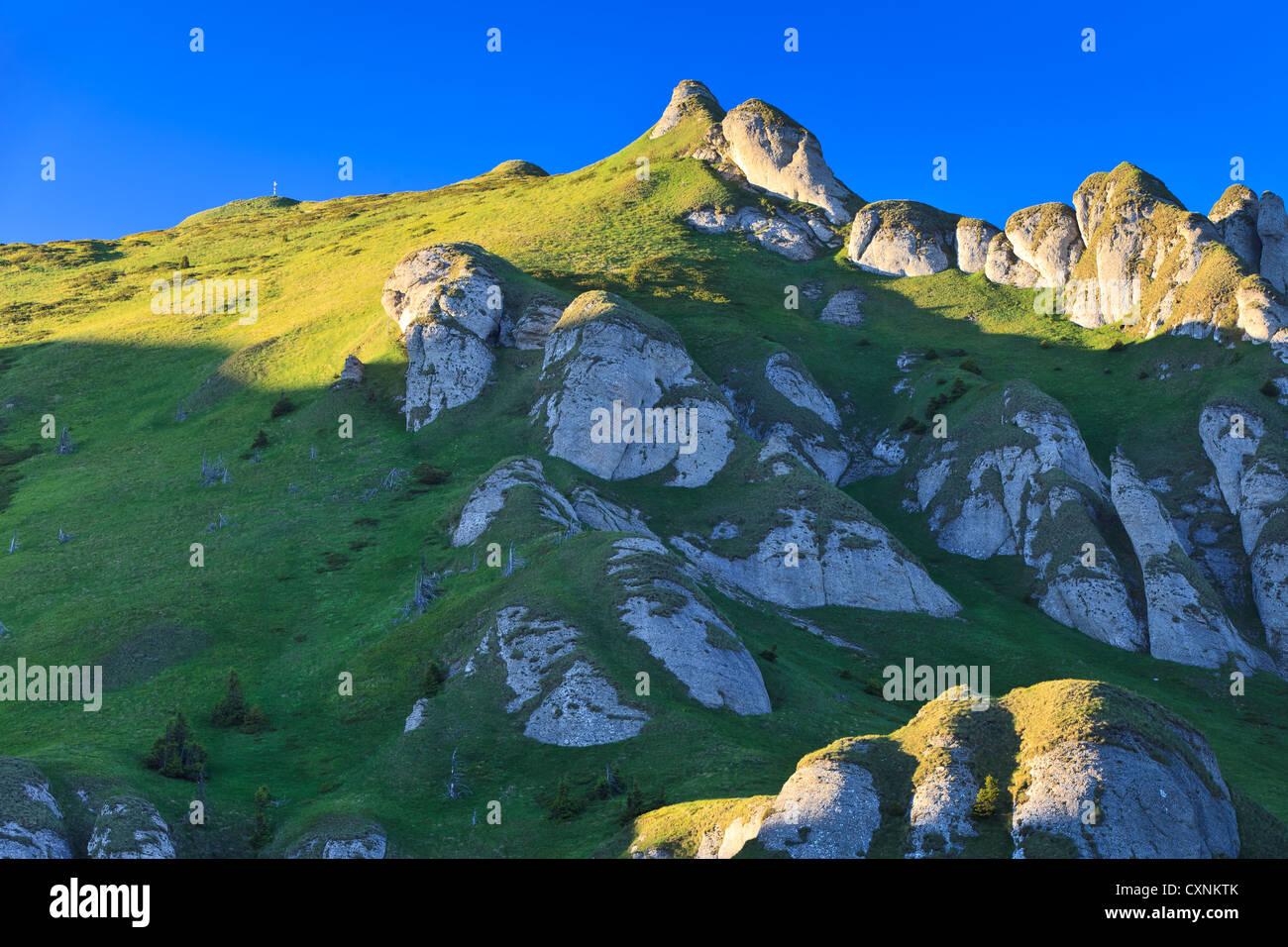 Berggipfel Stockbild