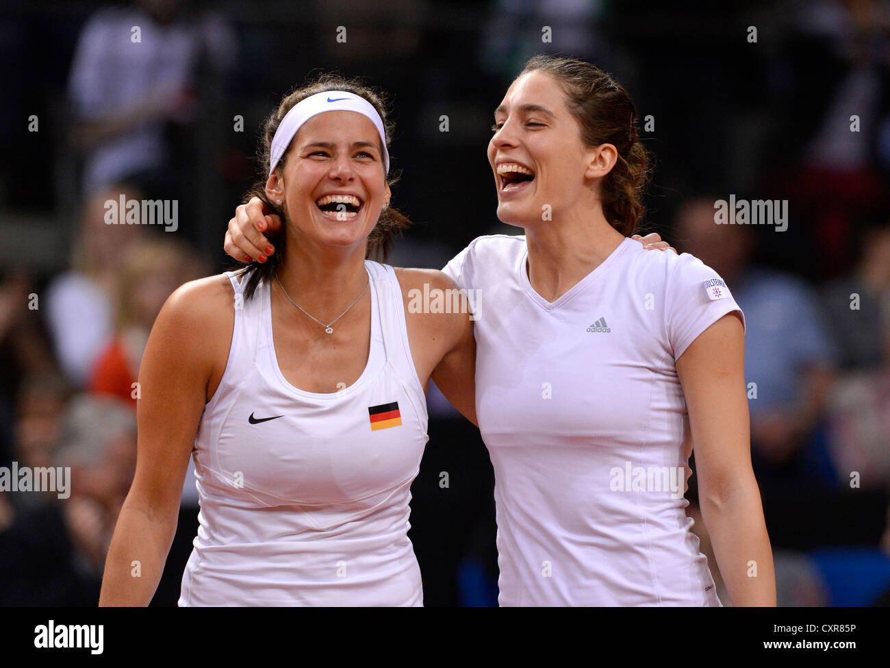 Julia Goerges Und Andrea Petkovic Ger Damen Tennis Doppel Fedcup