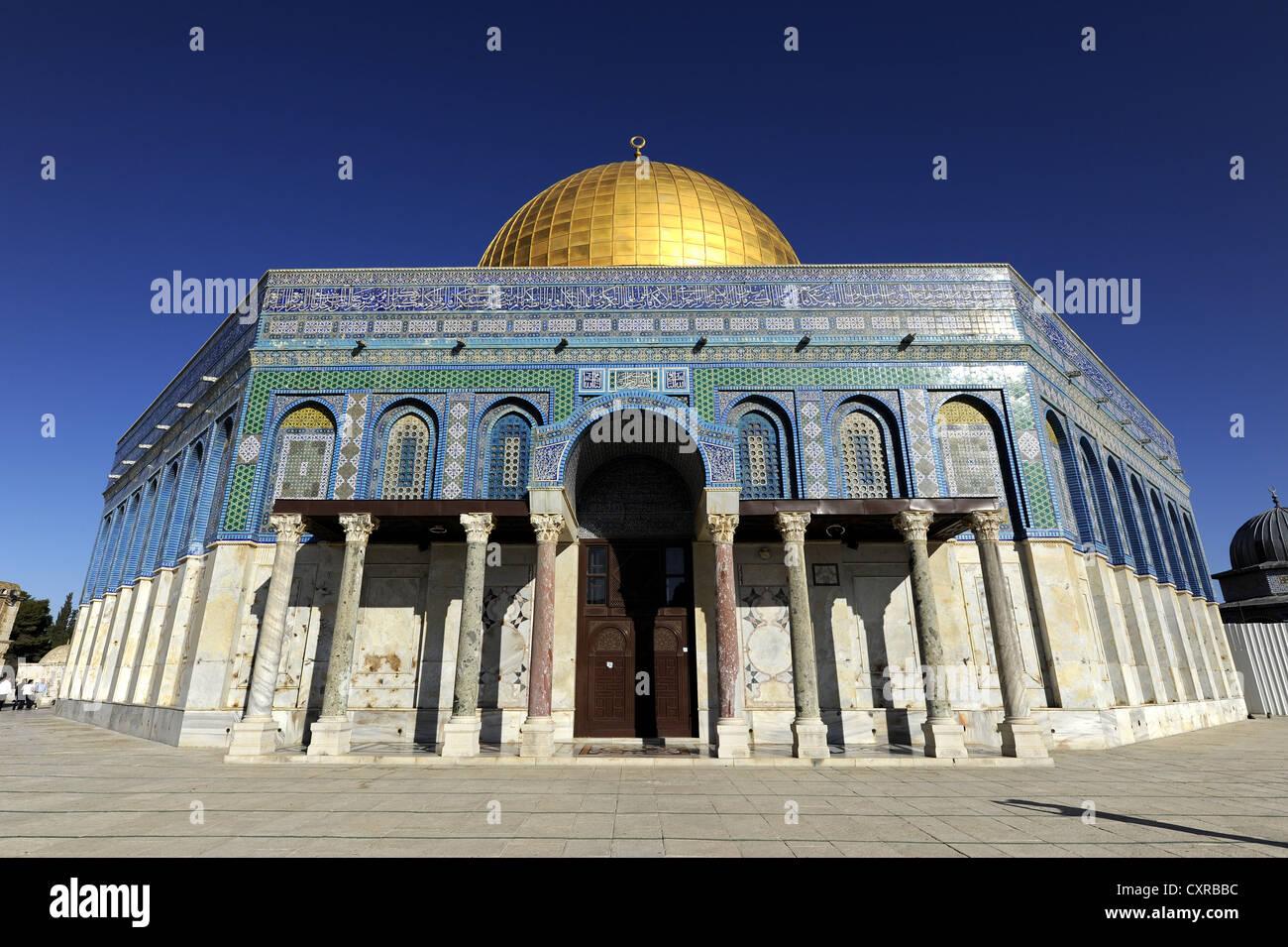 Kuppel des Rock, Tempelberg, Altstadt, Jerusalem, Israel, Naher Osten, Kleinasien, Asien Stockbild