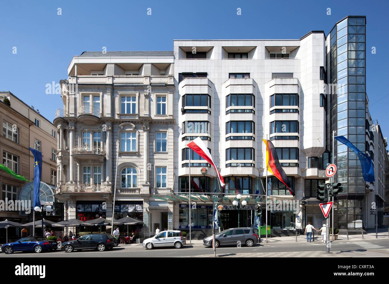 Büro- und Gewerbeimmobilien auf Wilhelmstraße, nicknamed Rue, Wiesbaden, Hessen, Deutschland, Europa, Stockbild