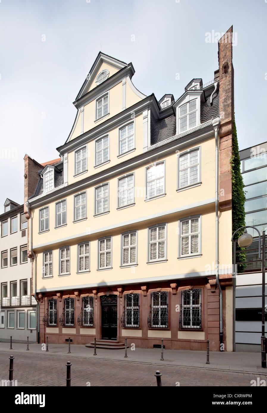 Goethe House And Museum Stockfotos & Goethe House And