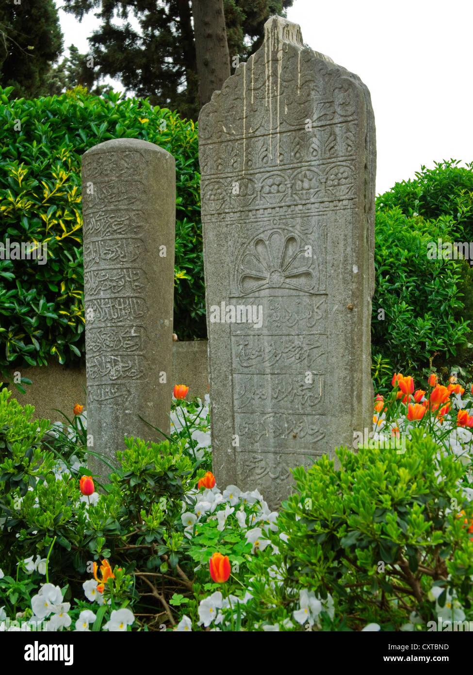 Ägypten, Istanbul, Eyüp, Grabmal Auf Dem Eyüp-Friedhof Stockbild