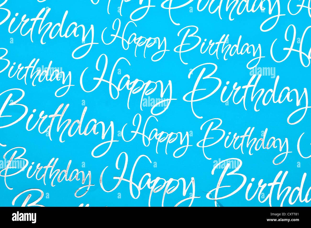 Alles Gute Zum Geburtstag Text Als Hintergrundbild Stockfoto Bild
