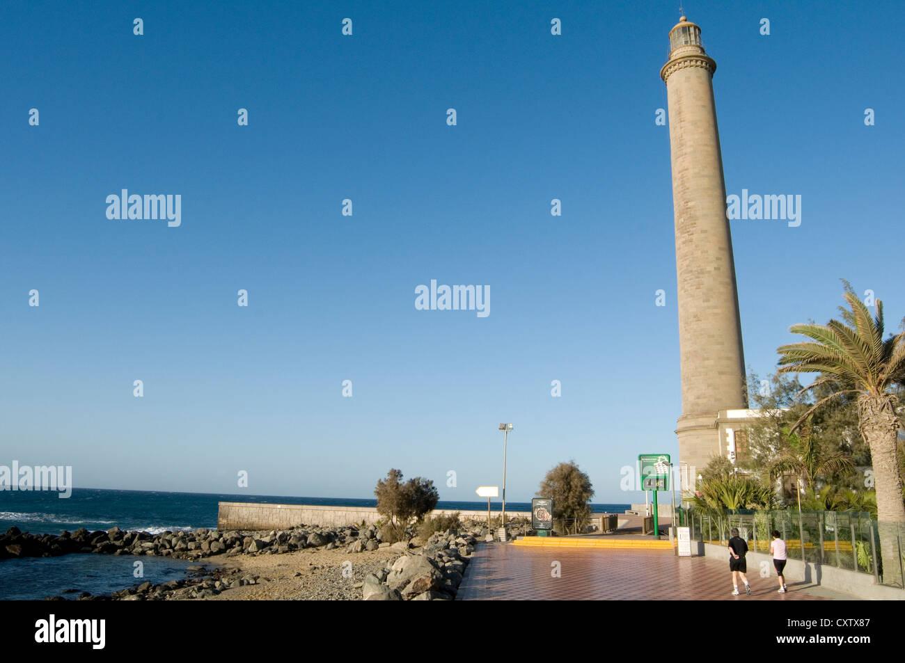 Leuchtturm El Faro Maspalomas de Gran Canaria Kanarische Inseln Inseln Spanisch Stockfoto