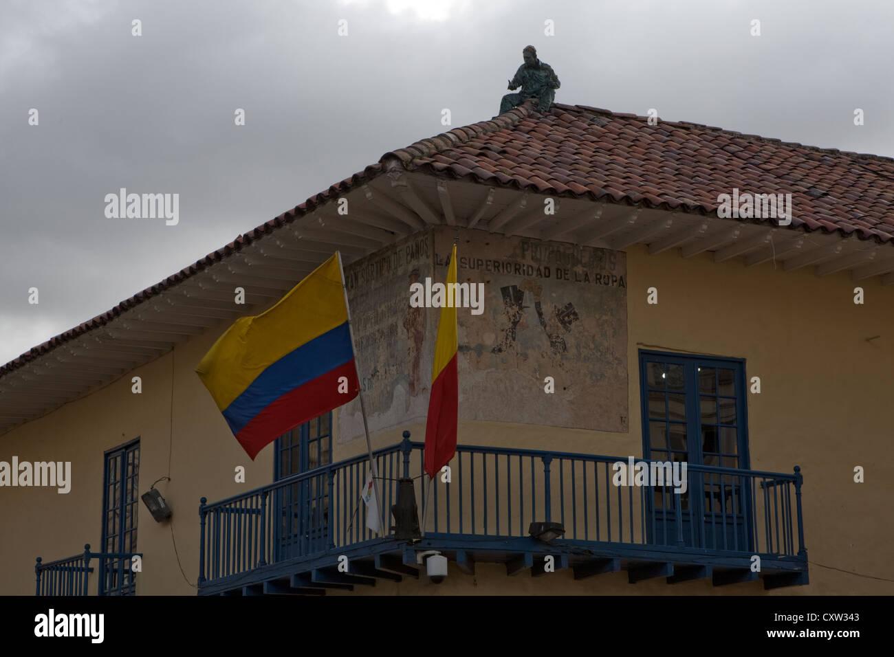 Papier Mache Schöpfung auf touristische Infos Shop Bogota Kolumbien Stockbild