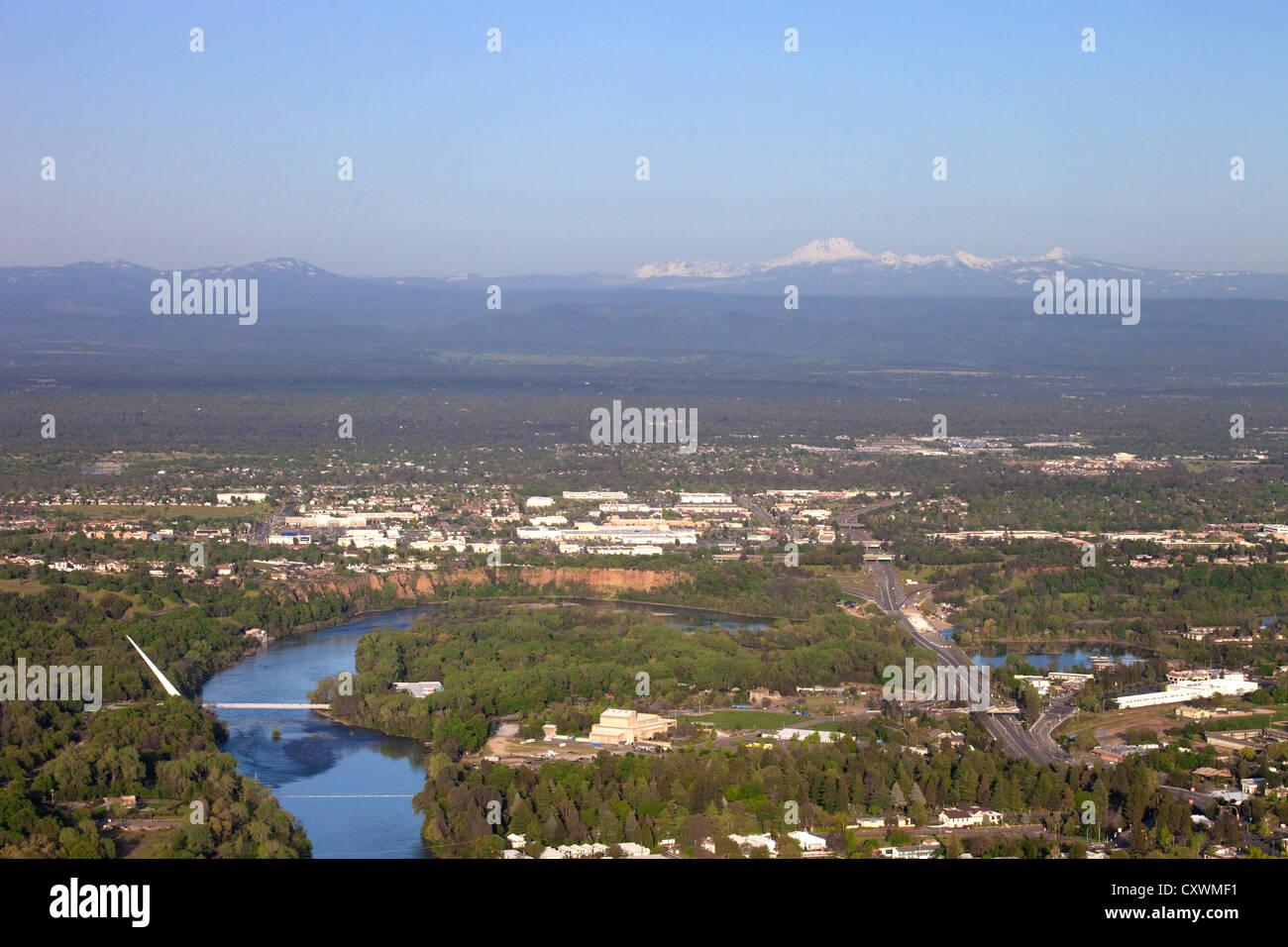 Luftaufnahme Von Redding Kalifornien Einschließlich Das Sundial