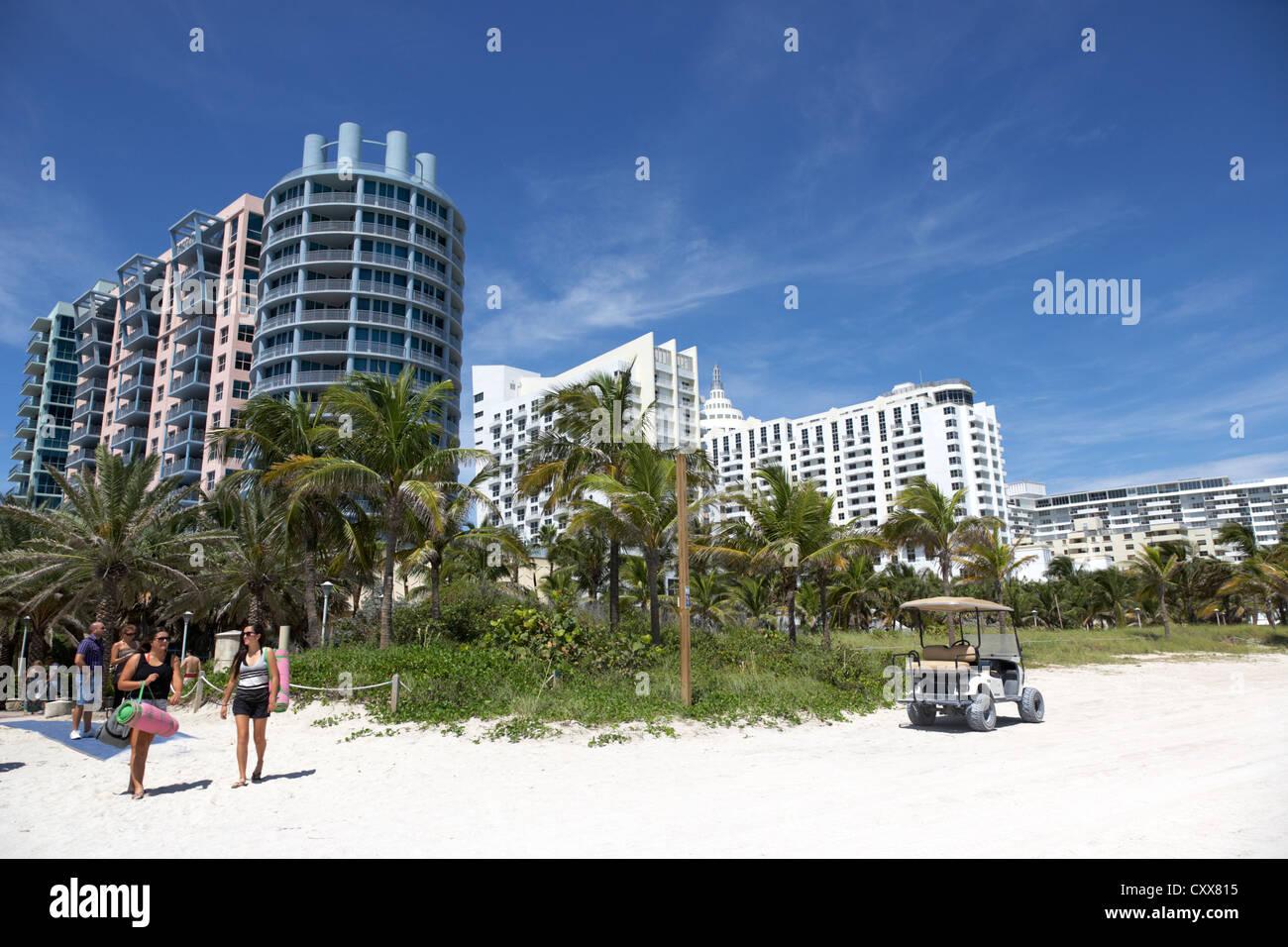 Strand Unterkünfte Miami south beach Florida Usa Stockbild