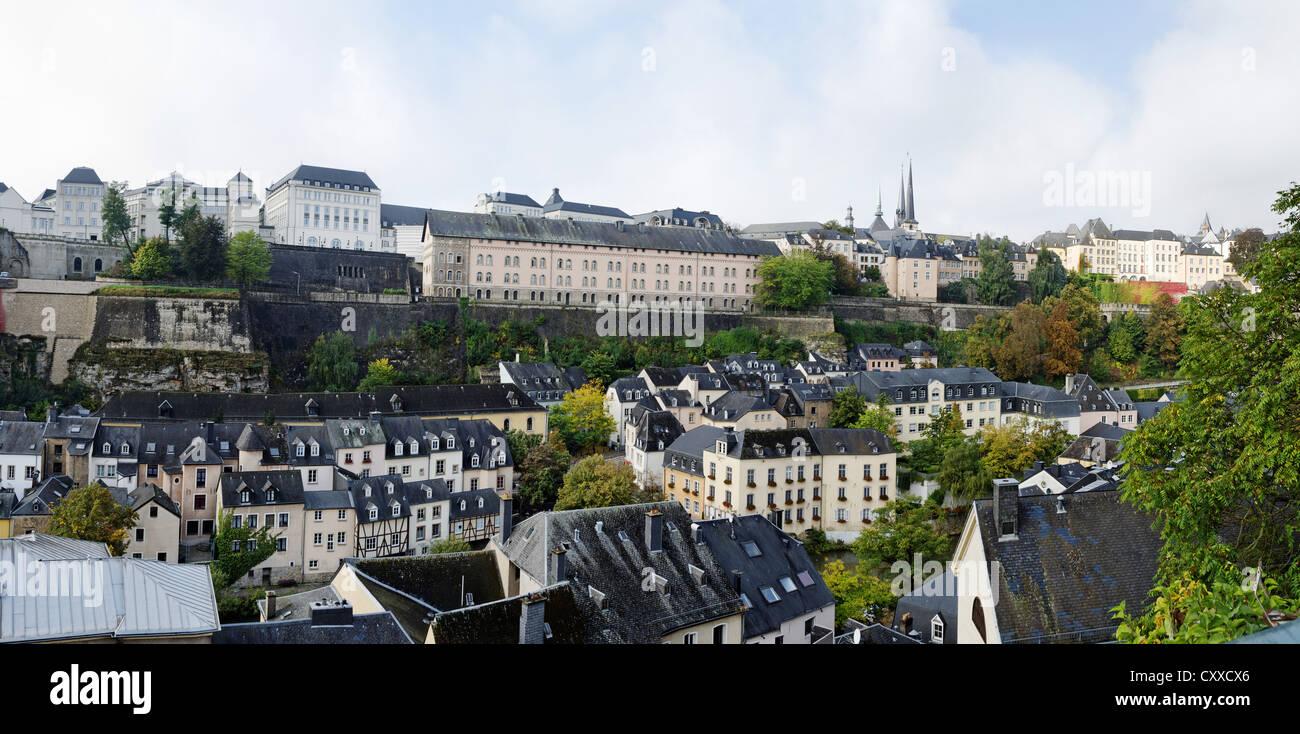 Ville Haute und Grund, Luxemburg-Stadt Stockbild