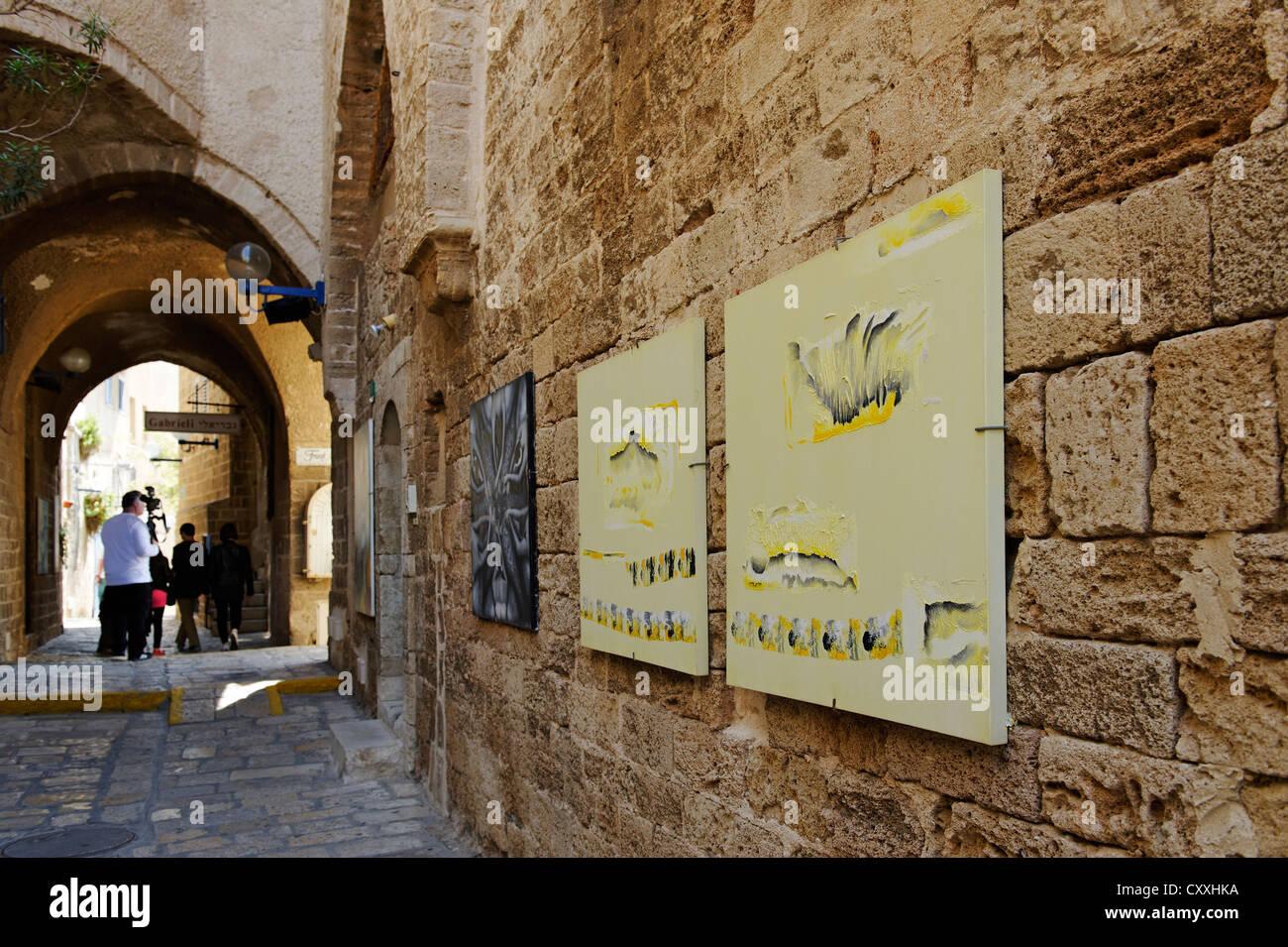 Künstler Viertel in der Altstadt von Jaffa, Tel Aviv, Israel, Nahost Stockbild