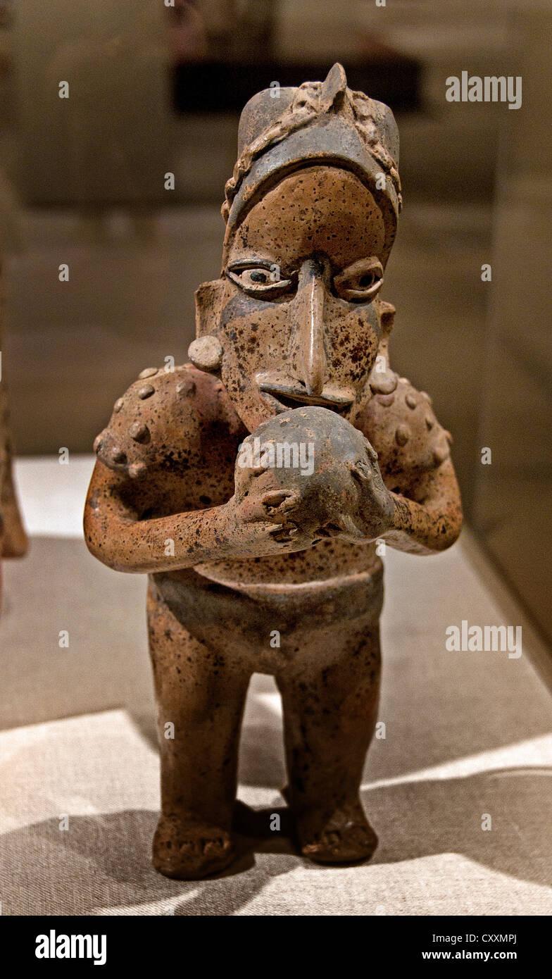 Ständigen Ballplayer 1. Jahrhundert BCE 3. Jahrhundert CE Mexiko Mittelamerika Jalisco Ameca-Etzatlán Stockbild