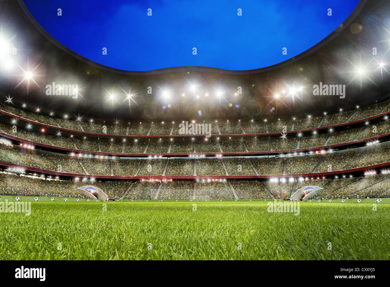 fu ball stadion rasen stockfoto bild 50994221 alamy. Black Bedroom Furniture Sets. Home Design Ideas