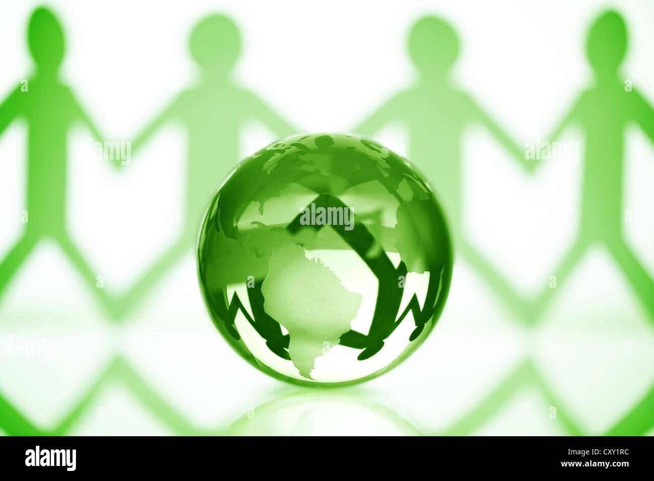Globale Gemeinschaft Stockbild