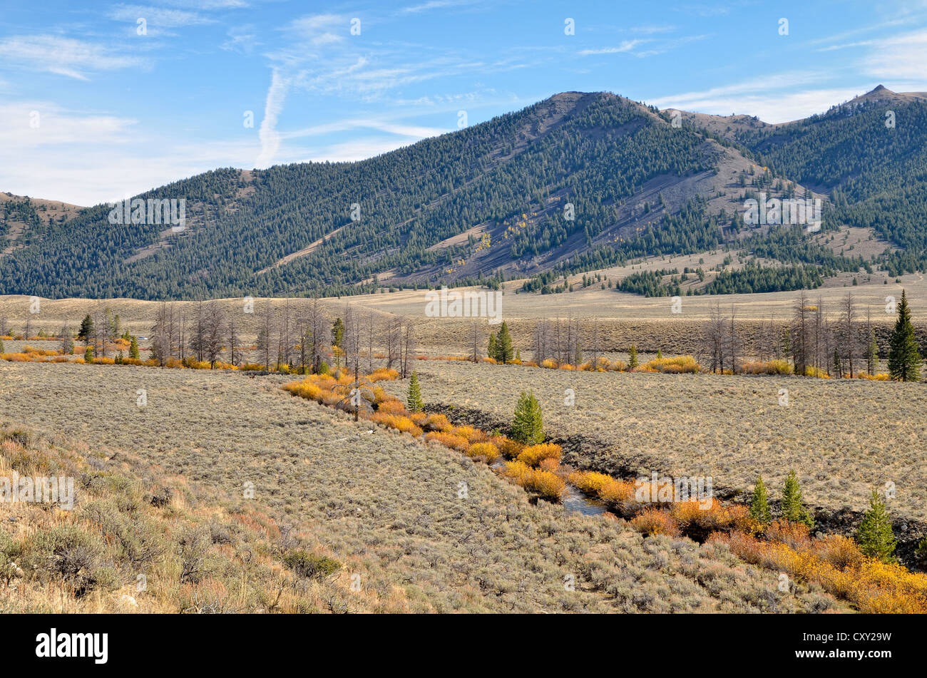 Großen Lost River Valley, Idaho, USA Stockbild