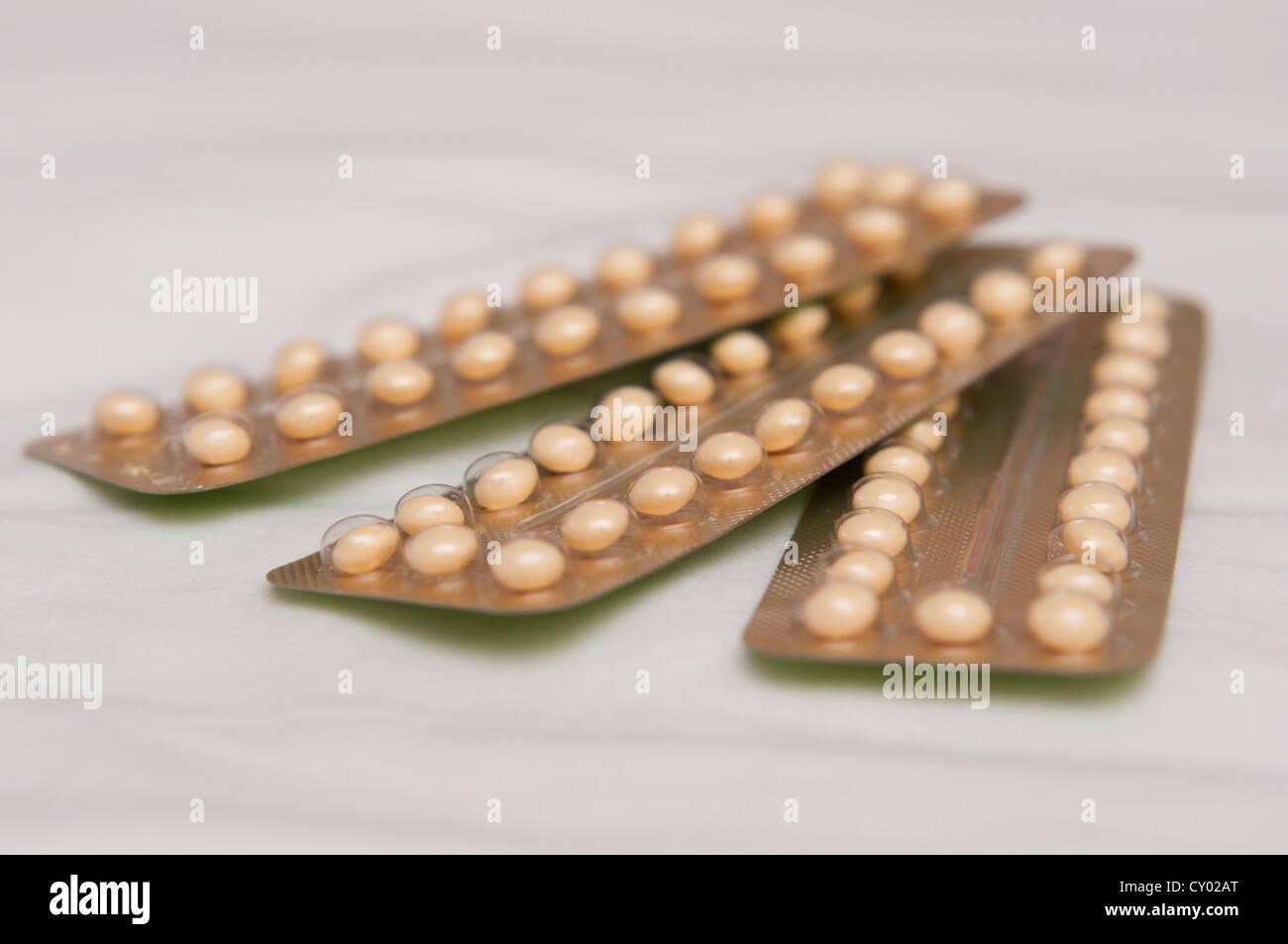 Antibaby-Pille Stockbild