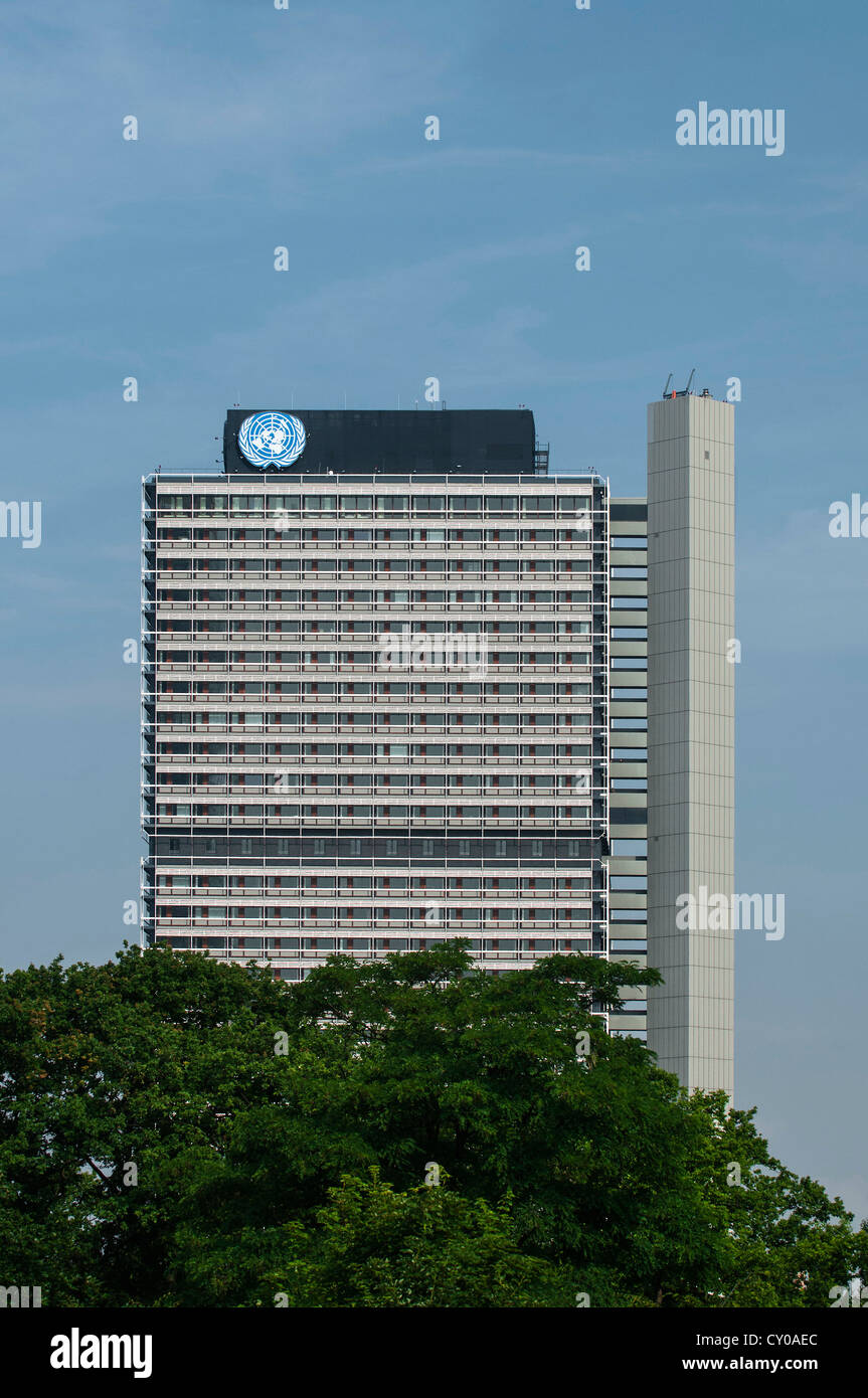 UN-Campus im langen Eugen, Gebäude, Büro, elf aus 12 Büros der Vereinten Nationen in Bonn Stockbild