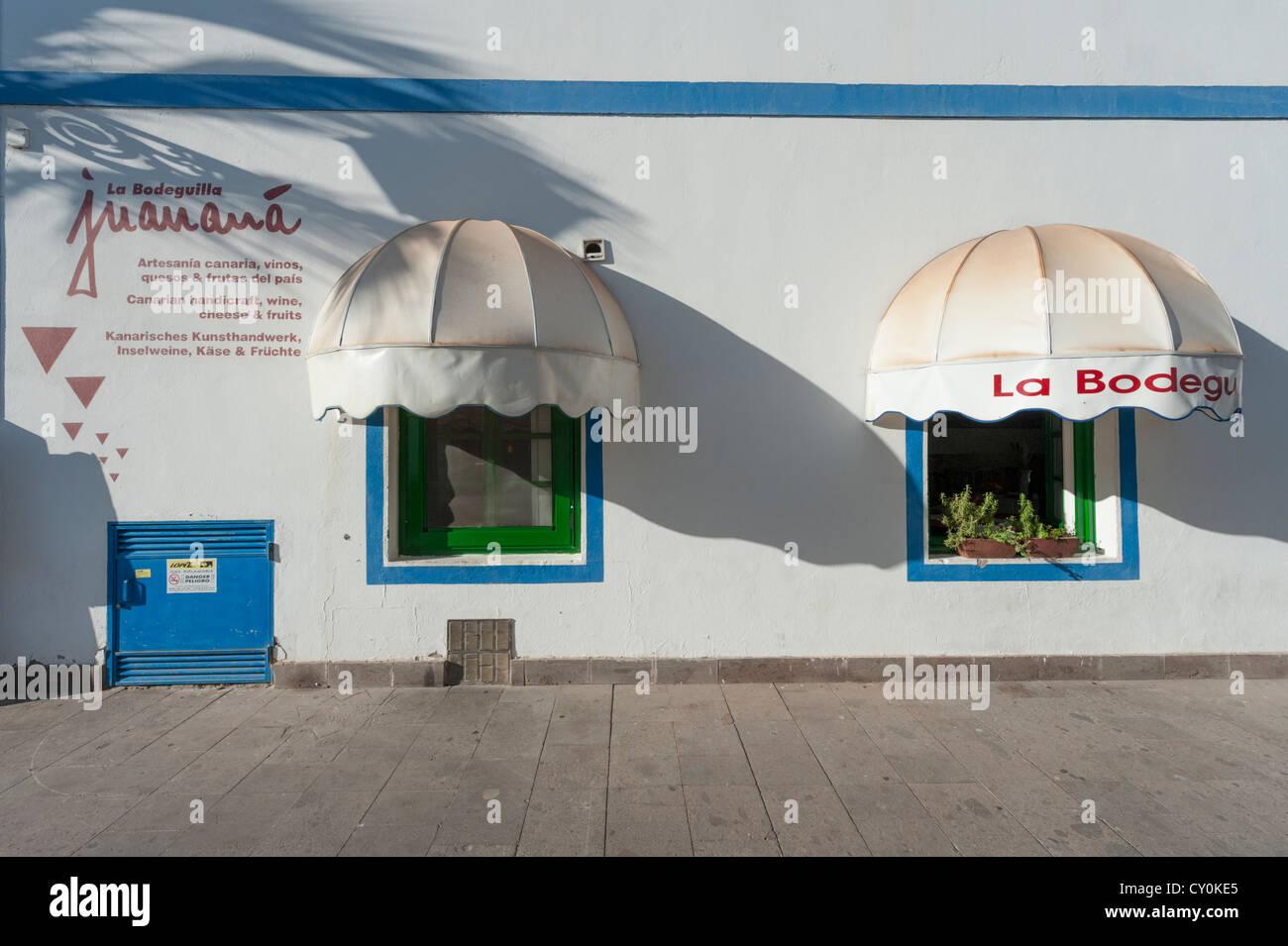 La Bodeguilla Cafe Juanana in Puerto de Mogan Gran Canaria Kanaren Spanien Stockbild