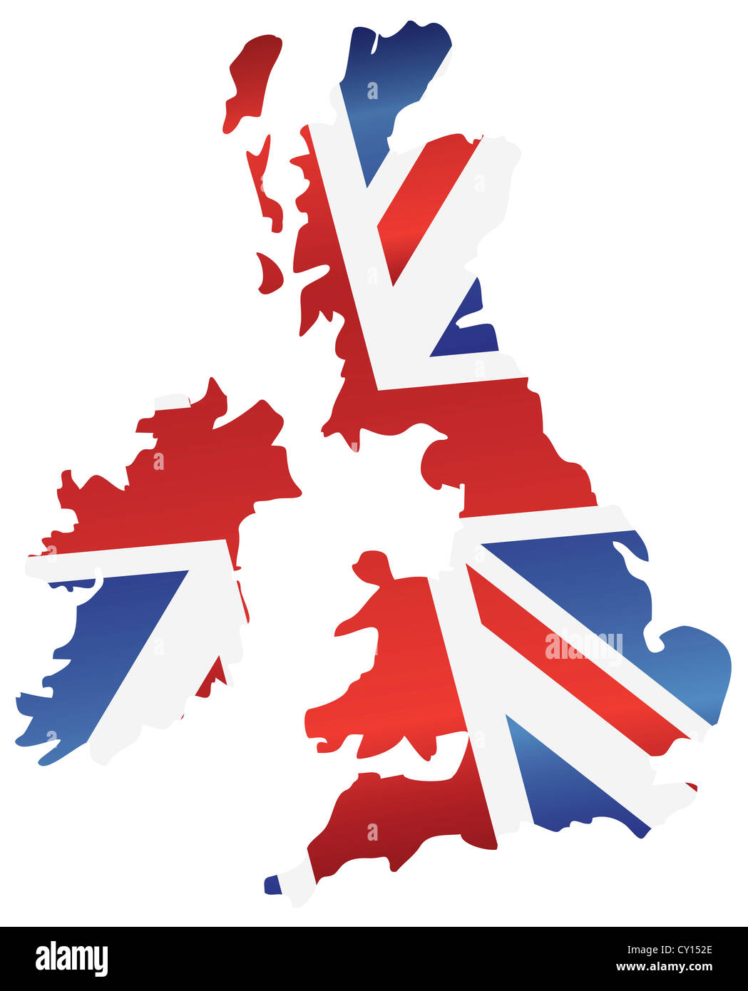 United Kingdom England Union Jack Flag Map Out Stockfotos & United ...