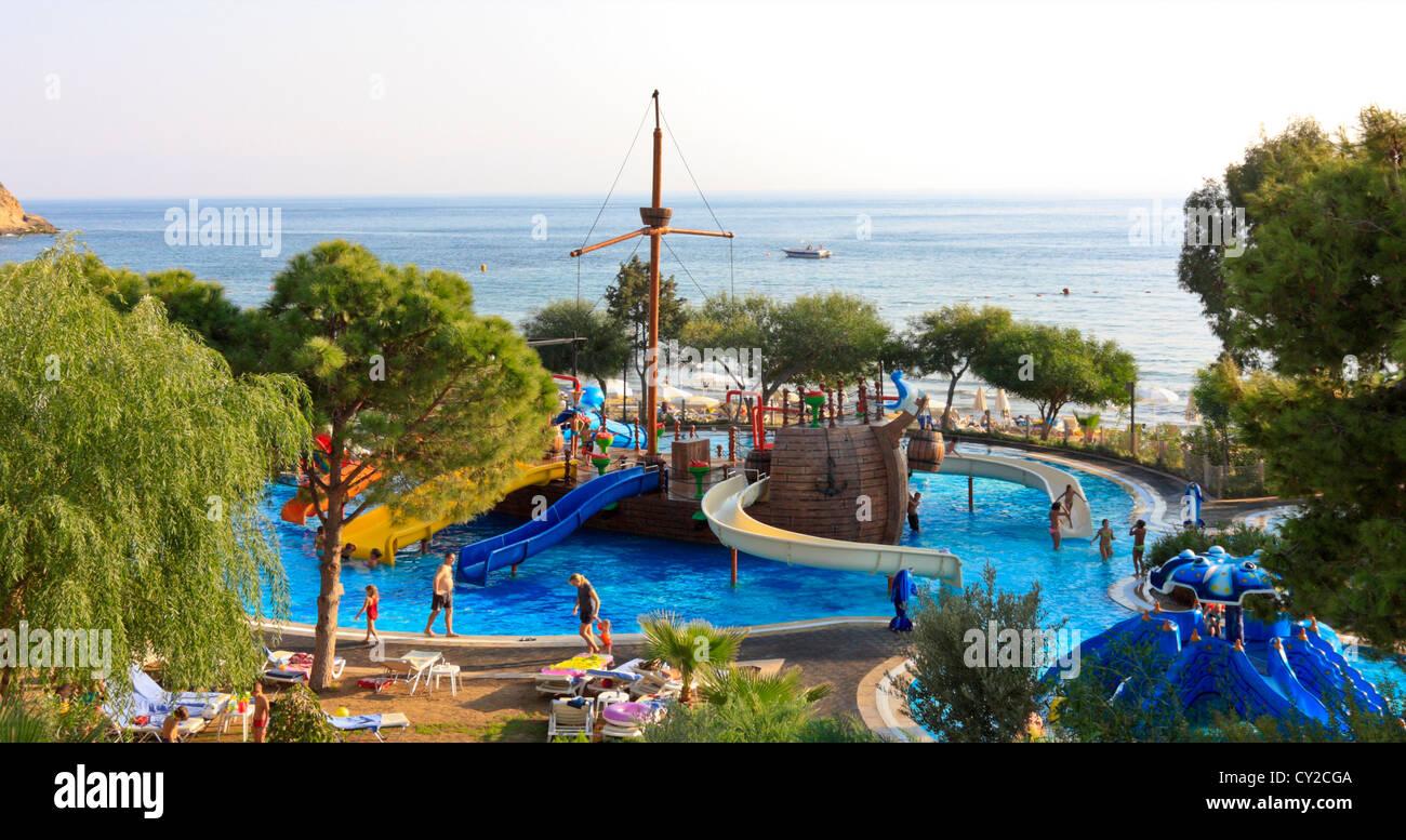 Schwimmbad Für Kinder In Einem Hotel, Ägäis, Türkei