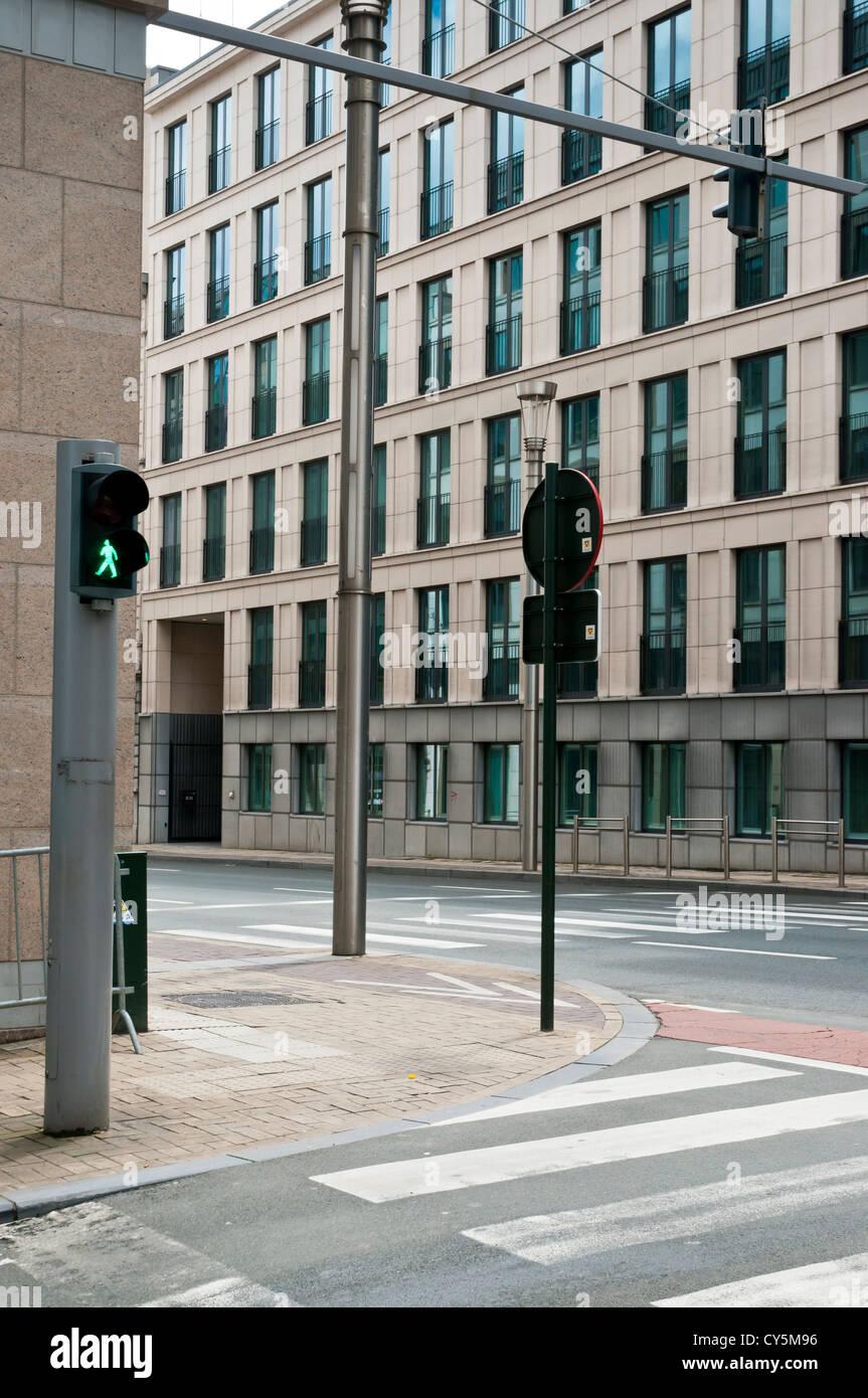 Europäische Nachbarschaft, zeitgenössische Architektur, Brüssel, Belgien Stockbild