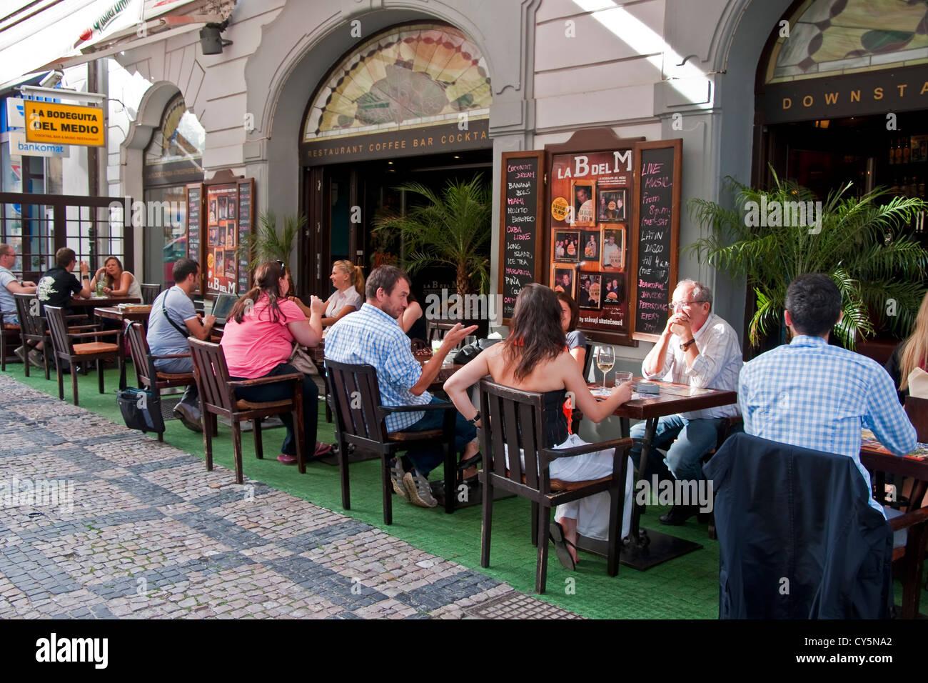 Prager La Bodeguita del Medio benannt nach Havanna Restaurant beliebt bei Ernest Hemingway Stockbild