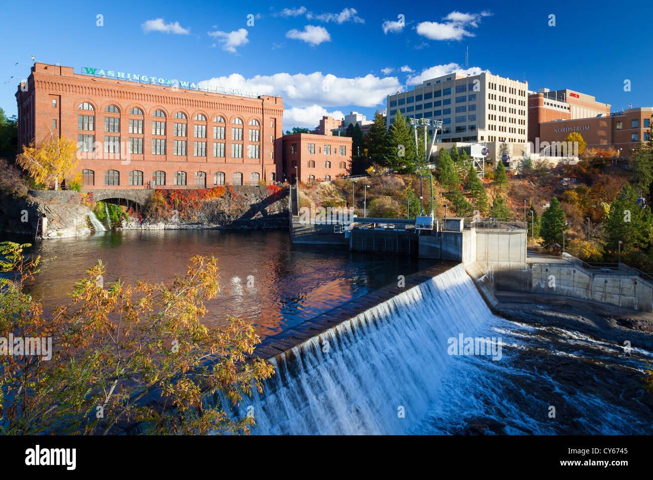 Spokane River in Spokane, Washington Stockbild