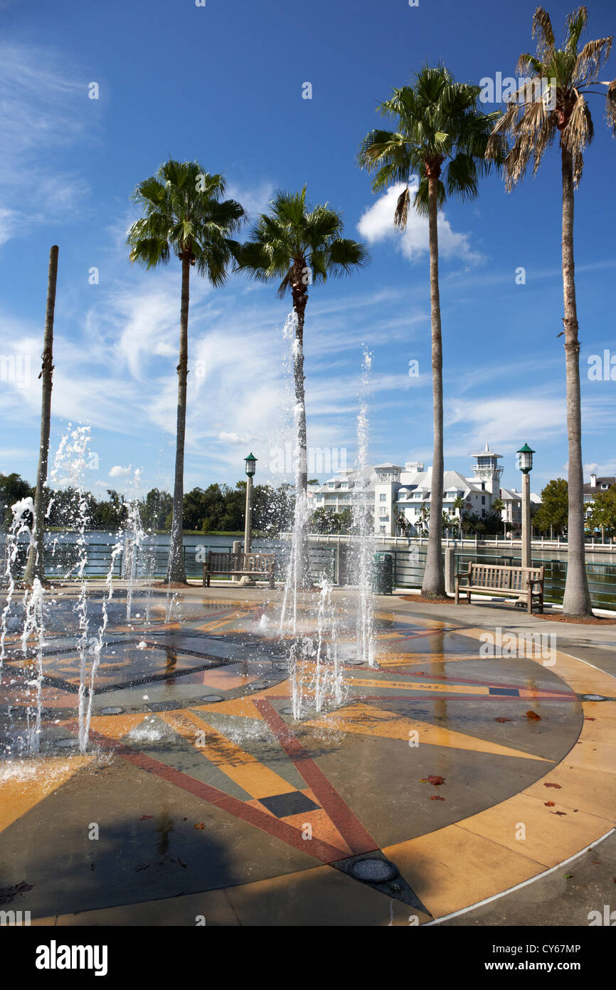Brunnen im Lakeside park Innenstadt Feier Florida Usa Stockbild