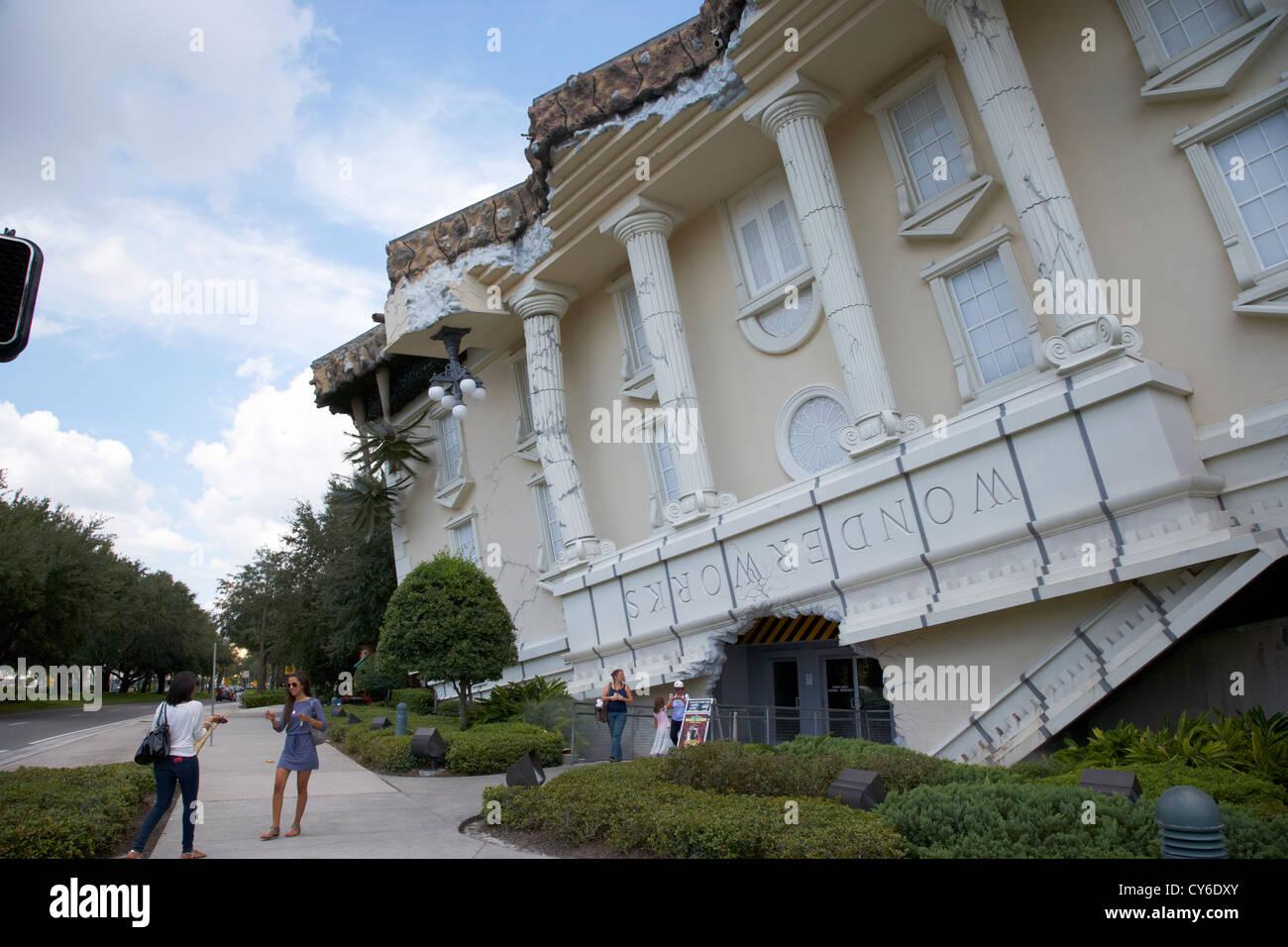 WonderWorks Touristenattraktion am International drive Orlando Florida usa Stockbild