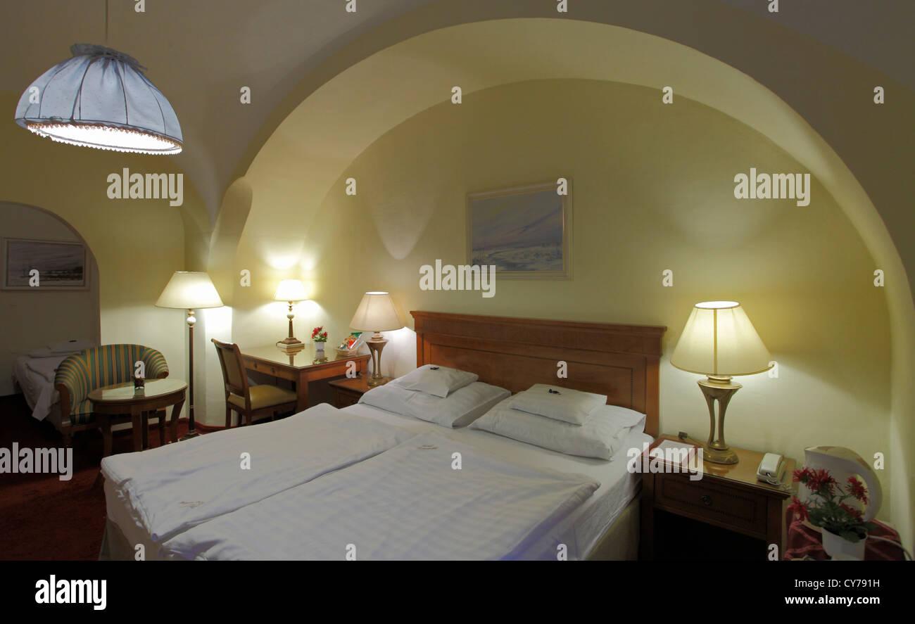 Ungarn, Eger, Romantik Hotel, Zimmer, Stockbild