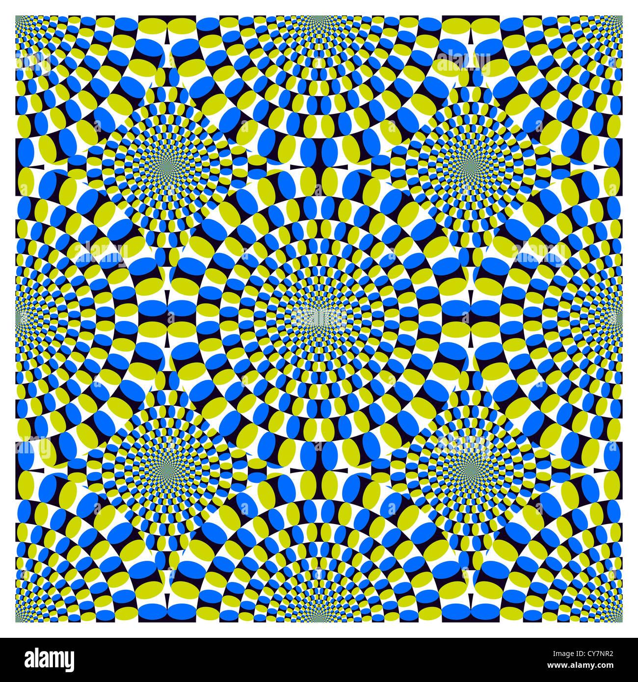 Optische illusion Spin Cycle Hintergrund Stockbild