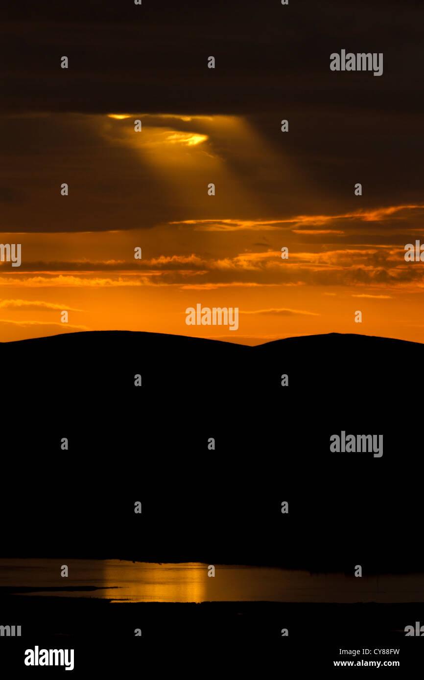 CREPUSCULAR rays Stockbild