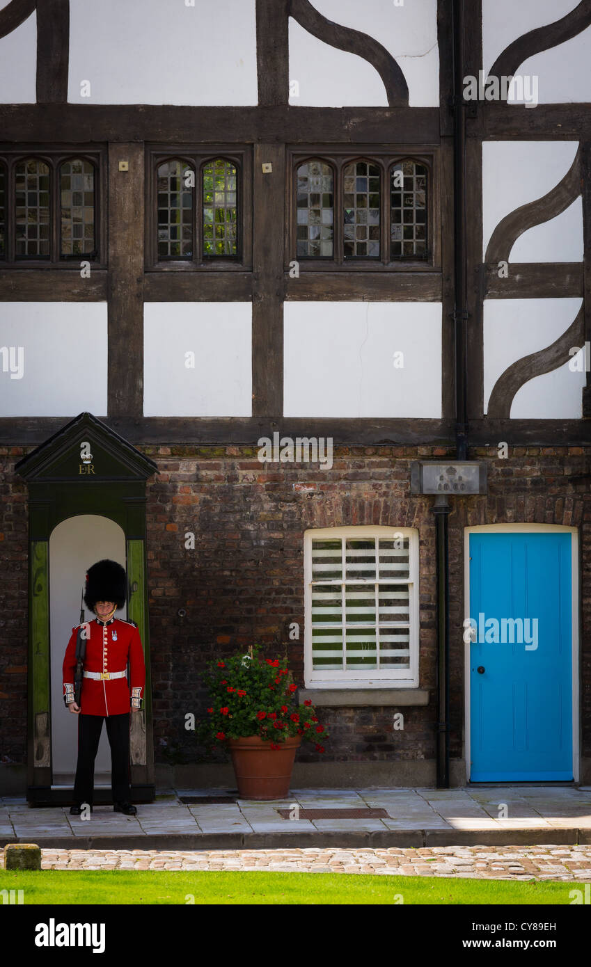 Wachposten an der Tower of London Stockbild