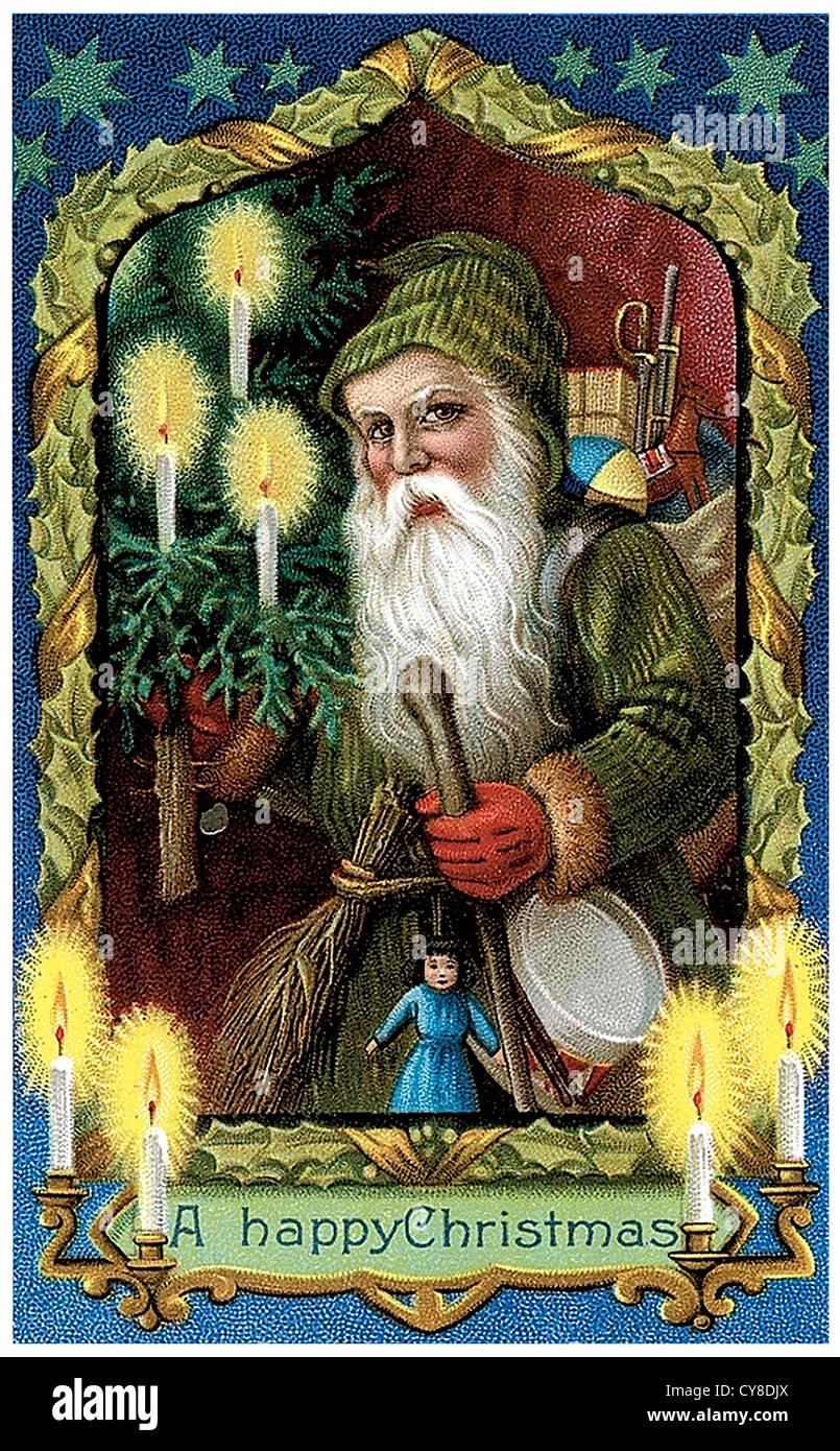 Altmodische Santa Claus Stockbild