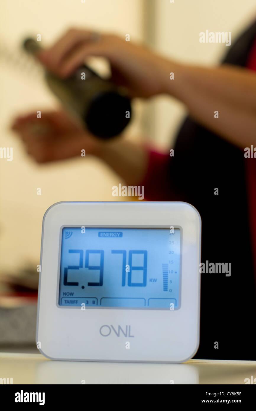 Eule Hause Strom-Verbrauch-Energie-Monitor, Gerät dient zum ...