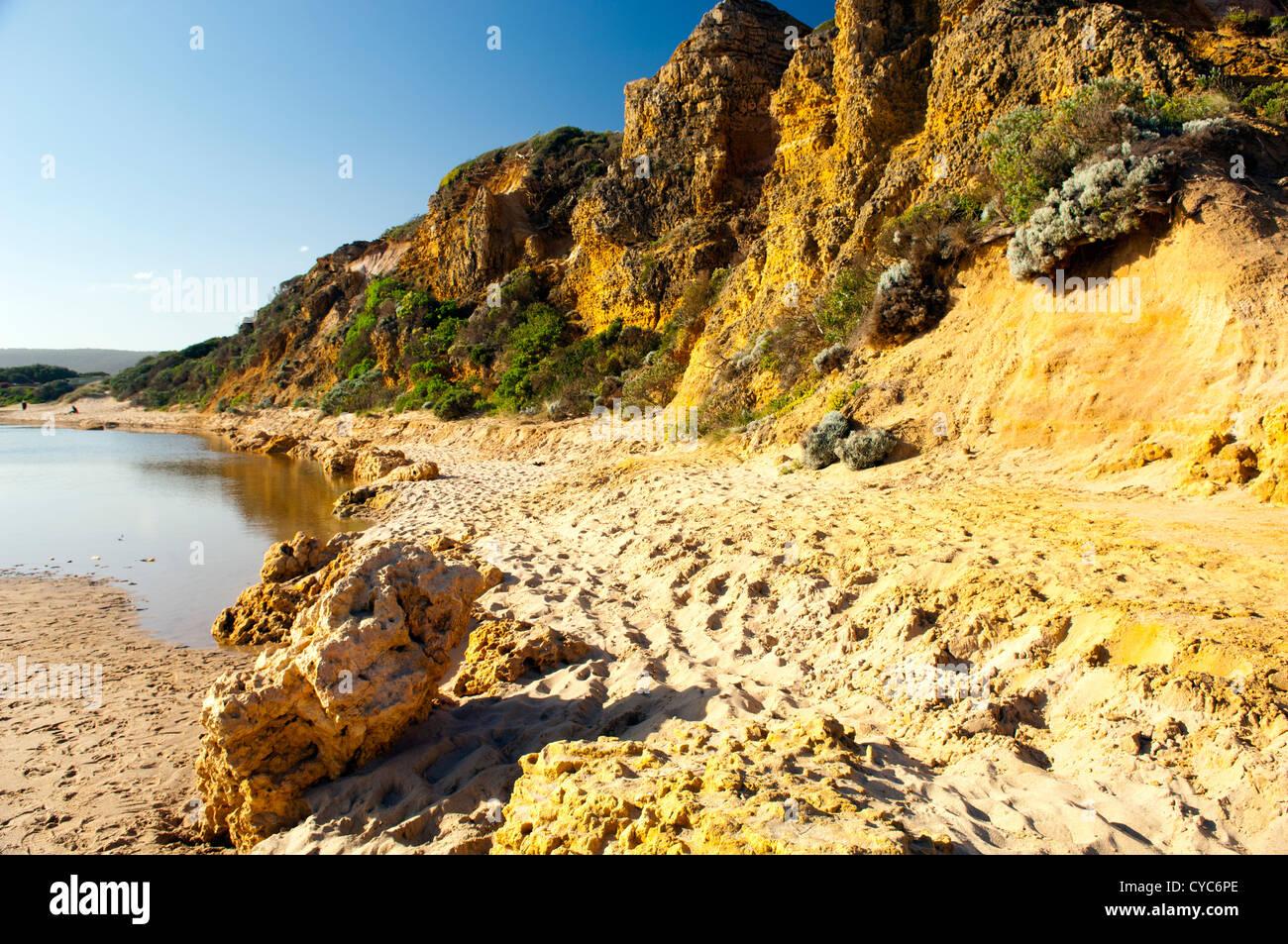 Blick entlang der Great Ocean Road in Victoria, Australien Stockbild