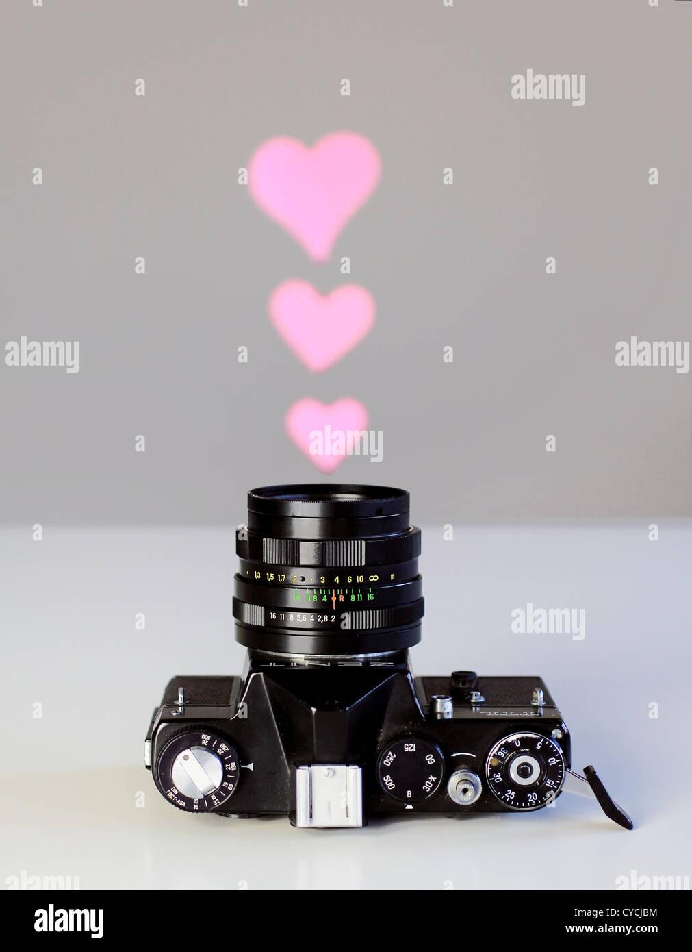 Kamera, Fotografie, Leidenschaft Stockbild
