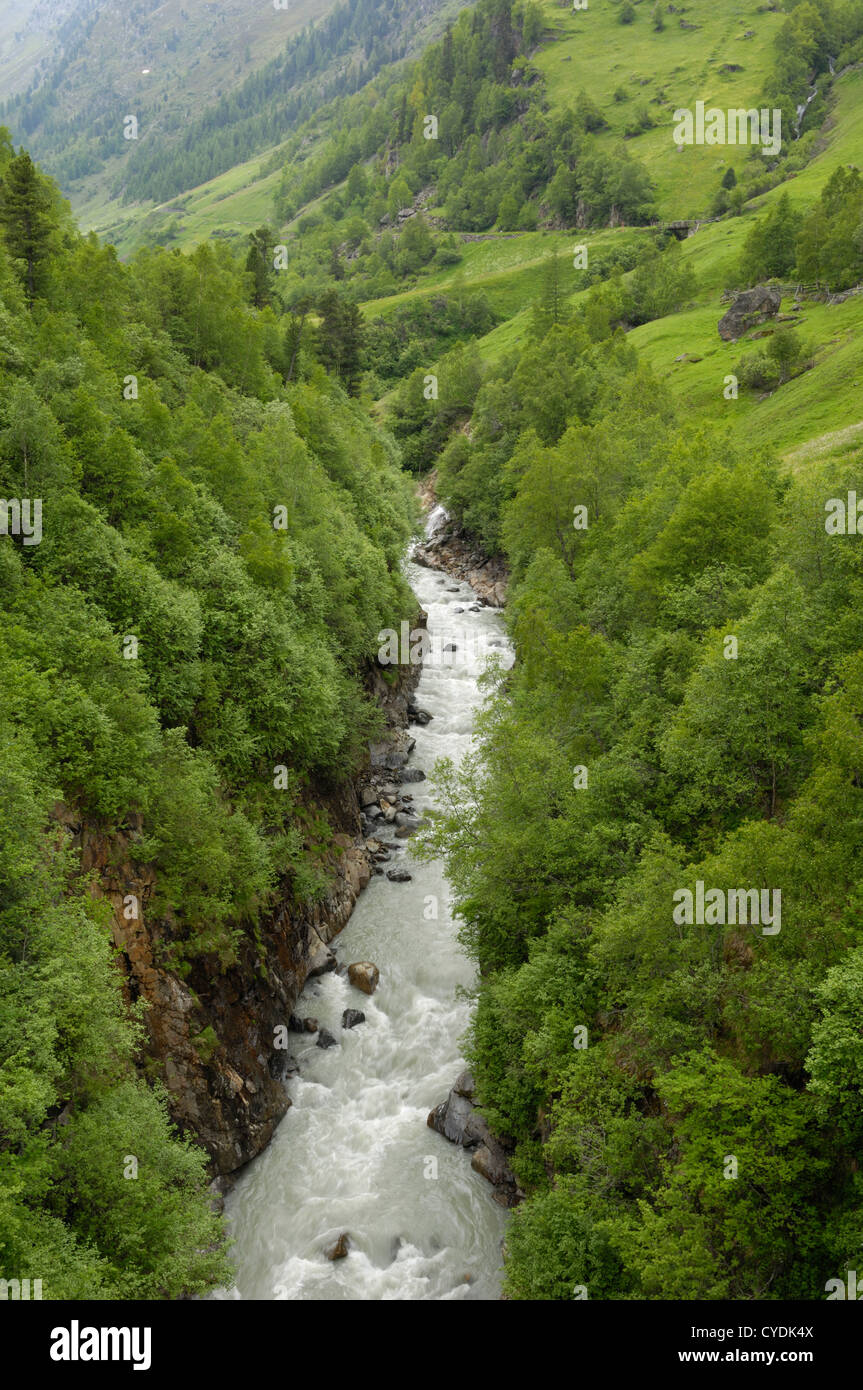 Venter Tal in der Nähe von Vent, Ötztal-Tal, Tirol, Österreich Stockbild