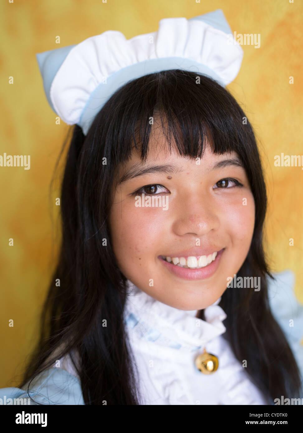 Lokale Inselbewohner kleiden wie ihre Lieblings-Manga oder Anime-Figuren für Mihama Manga Expo in Chatan, Okinawa, Stockfoto