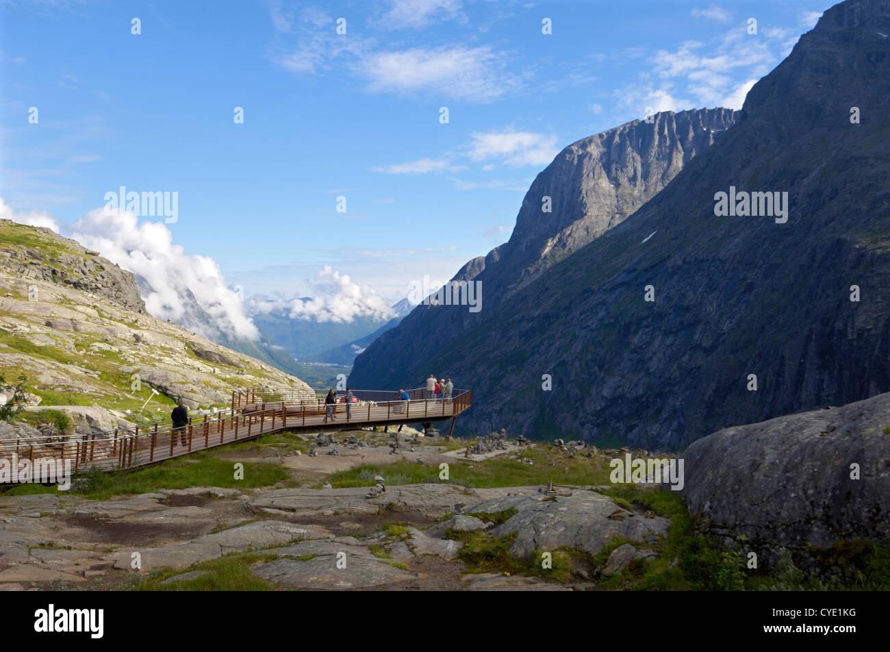 Blick vom Trollstigen Sicht, mehr Og Romsdal, Norwegen Stockbild