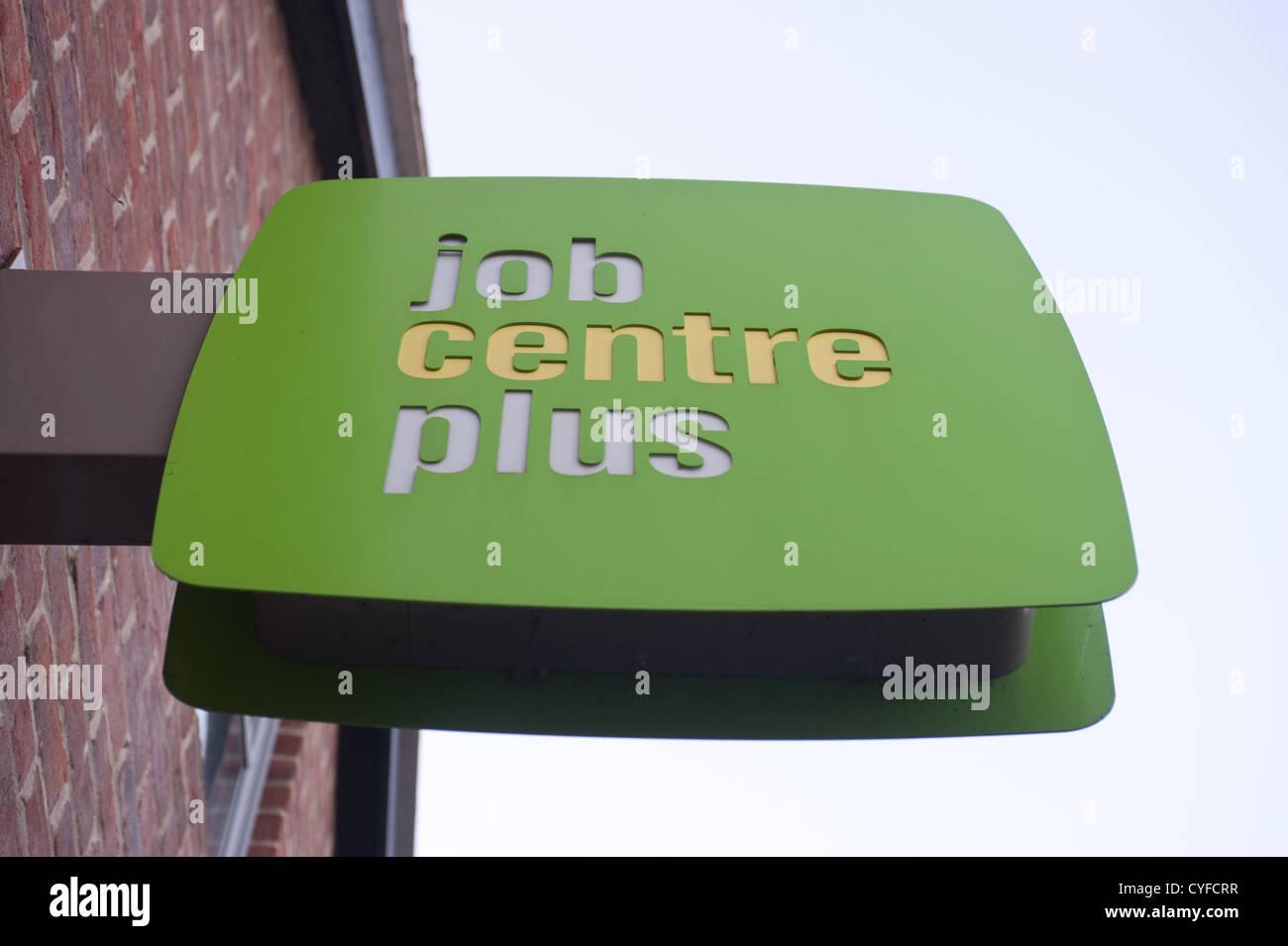 Job Centre Plus Zeichen, Stockfoto