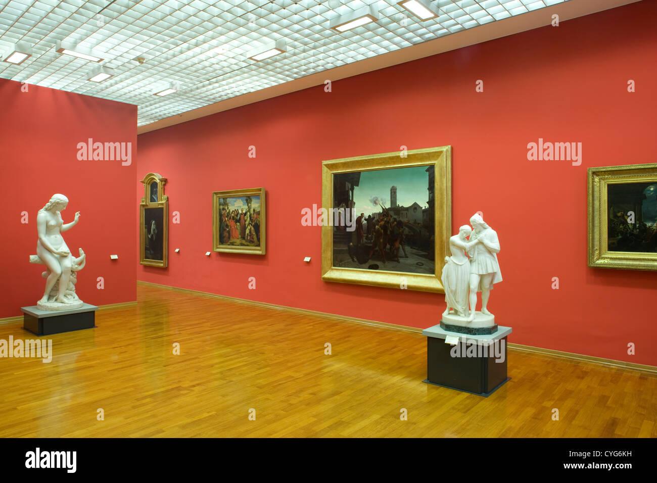 Turin   GAM / Moderne Kunst Museum / 19. Jahrhundert Sammlung / Gen Ansicht  Der Galerie