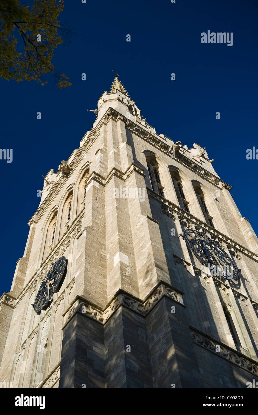 Die Pfarrkirche St. Peter und Paul in Kettering, Northamptonshire, UK Stockbild