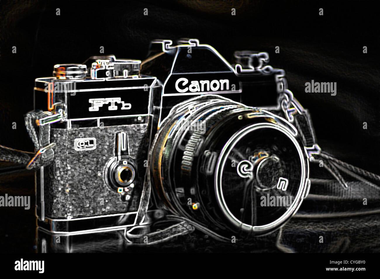 Alten canon kamera stockfoto bild  alamy
