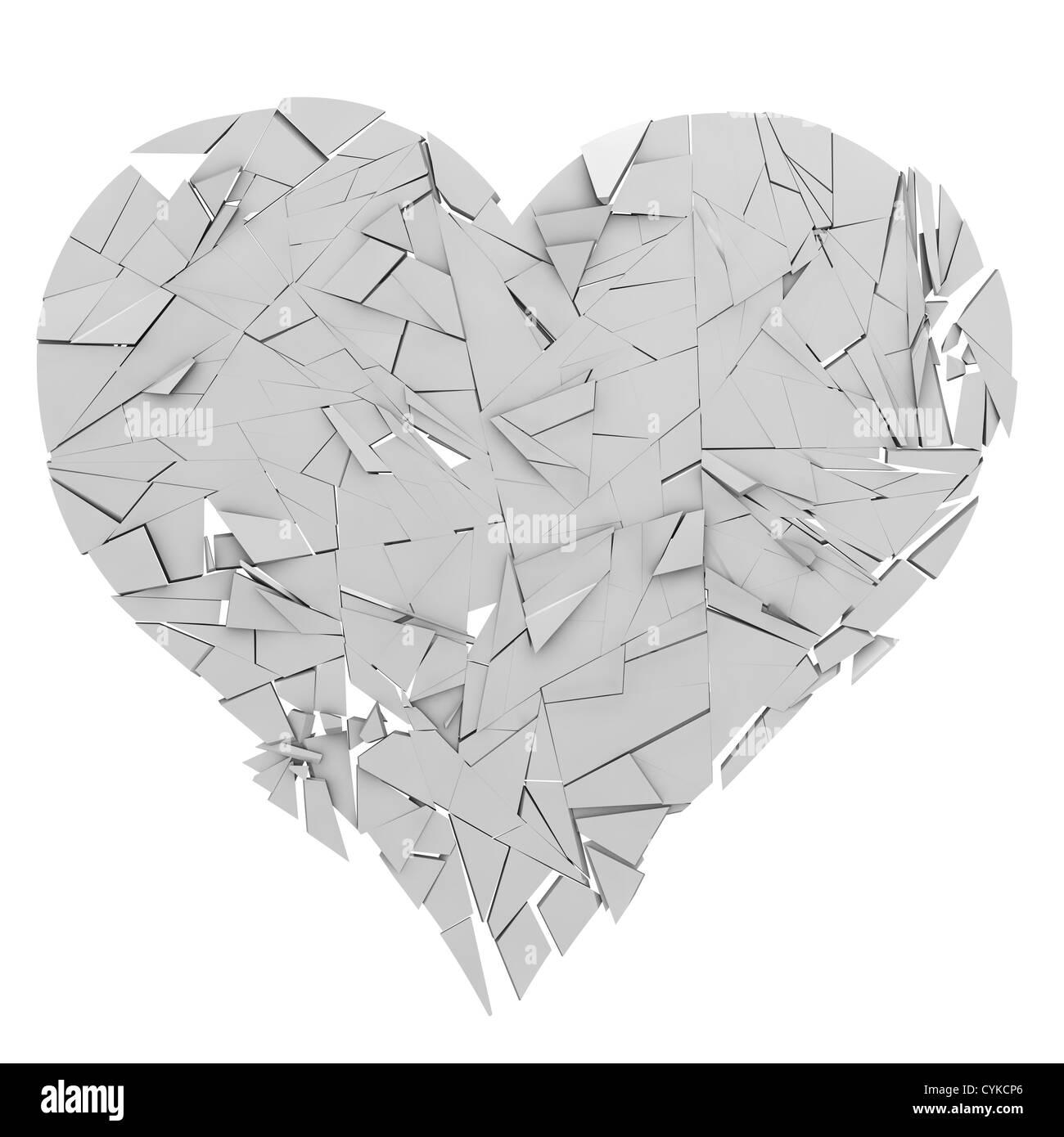 Ein Herz liegt in Trümmern Stockfoto, Bild: 51443566 - Alamy