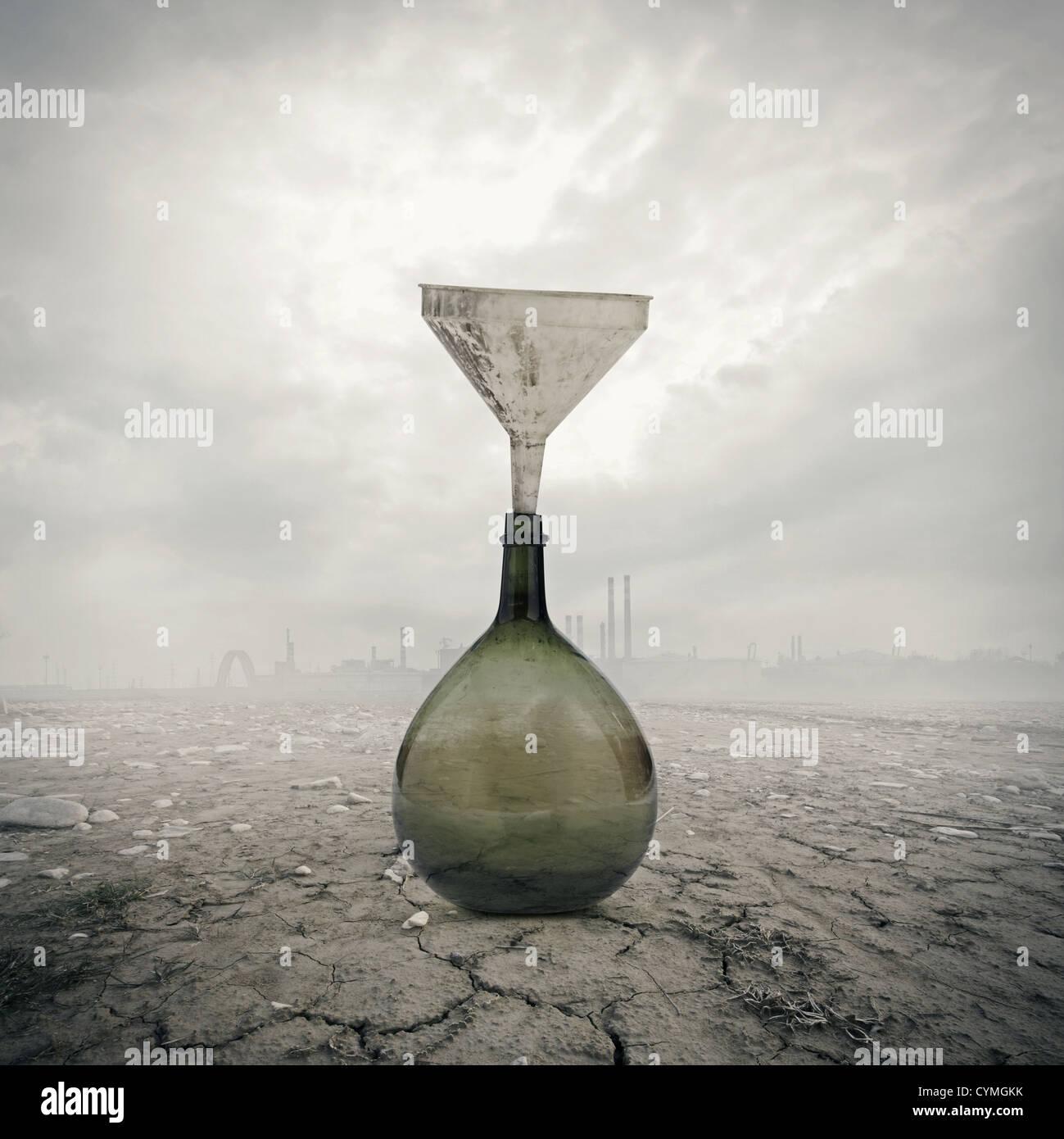 Konzept der globalen Erwärmung: Umweltschäden Stockbild