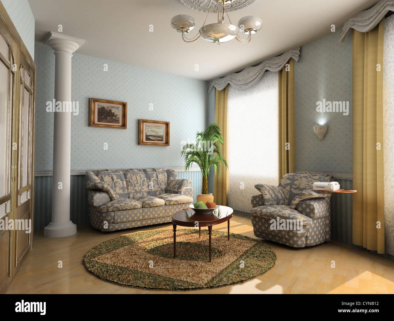 modernes Hotel Interior Design im klassischen Stil (Privat Wohnung ...