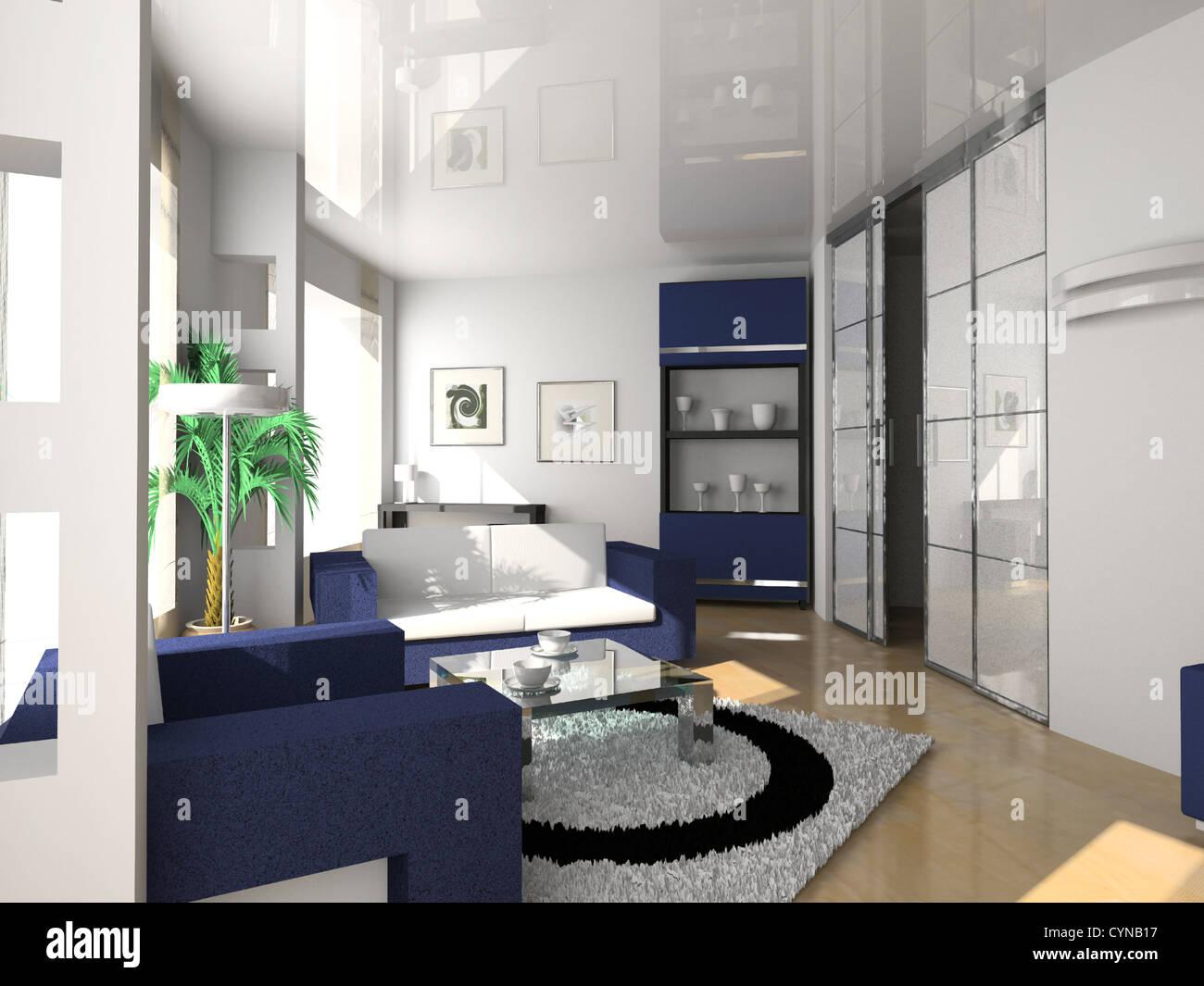 Innenarchitektur modernes Hotel im modernen Stil (Privat Wohnung 3D ...